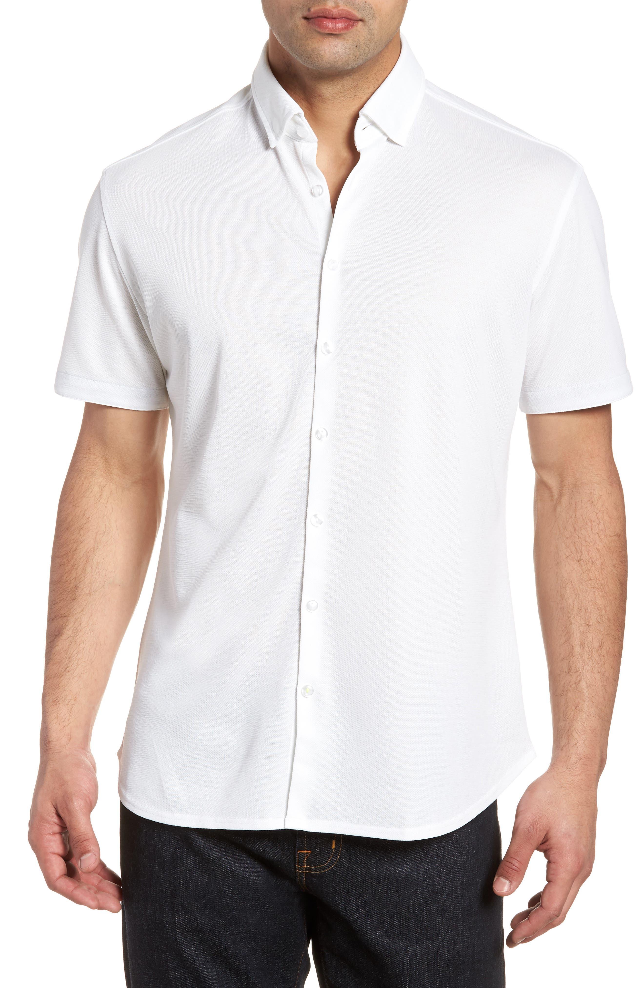 Knit Sport Shirt,                         Main,                         color, 100