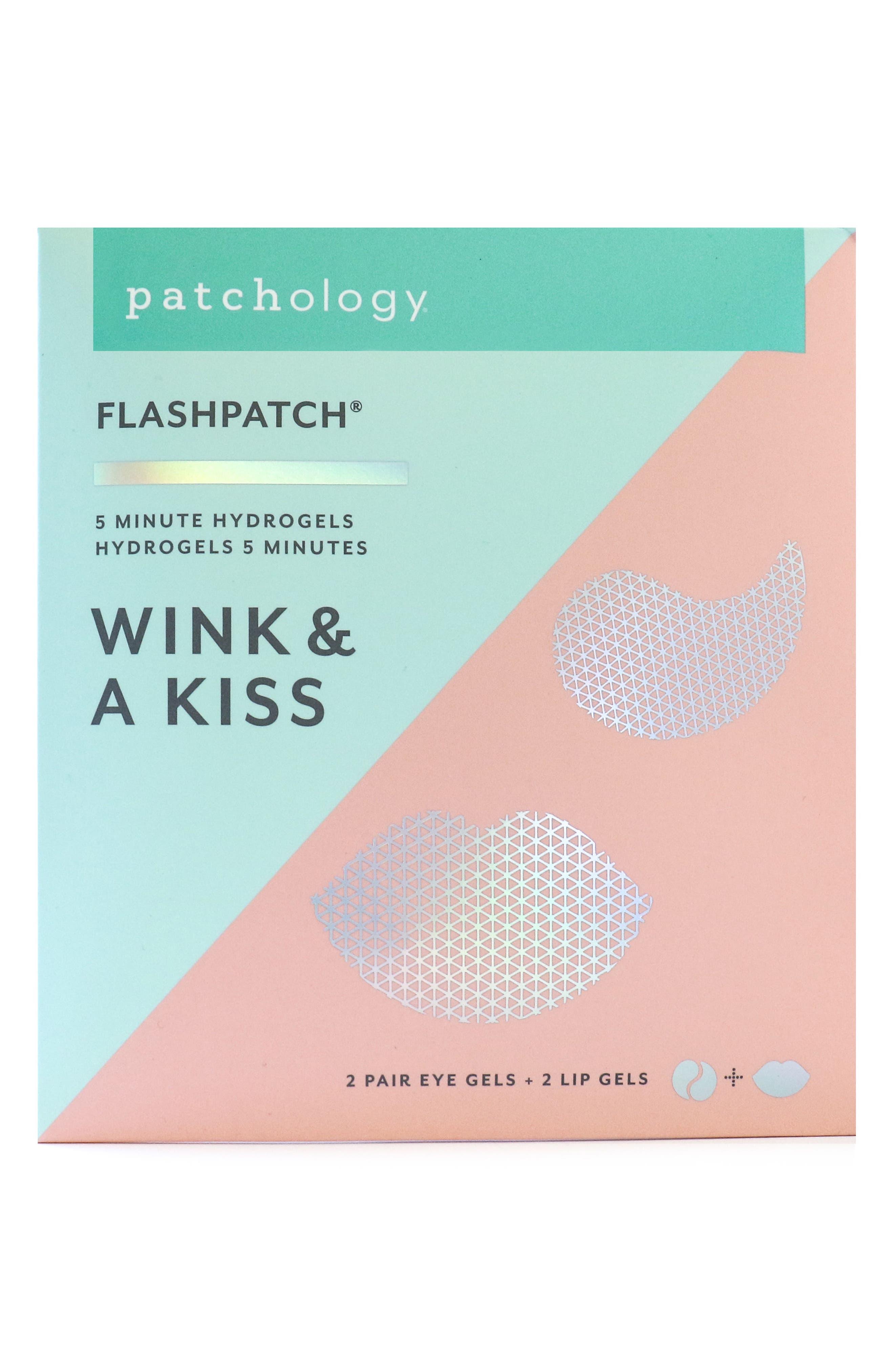 Wink & a Kiss FlashPatch<sup>™</sup> Hydrogels,                             Main thumbnail 1, color,                             NO COLOR