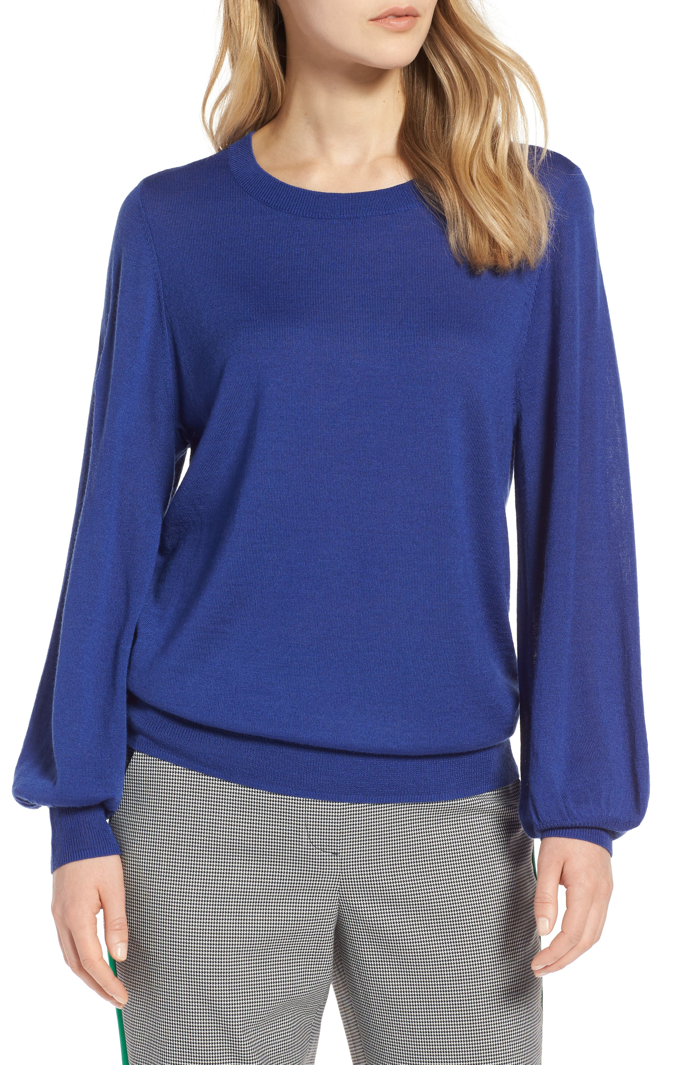 Puff Sleeve Sweater,                             Main thumbnail 5, color,
