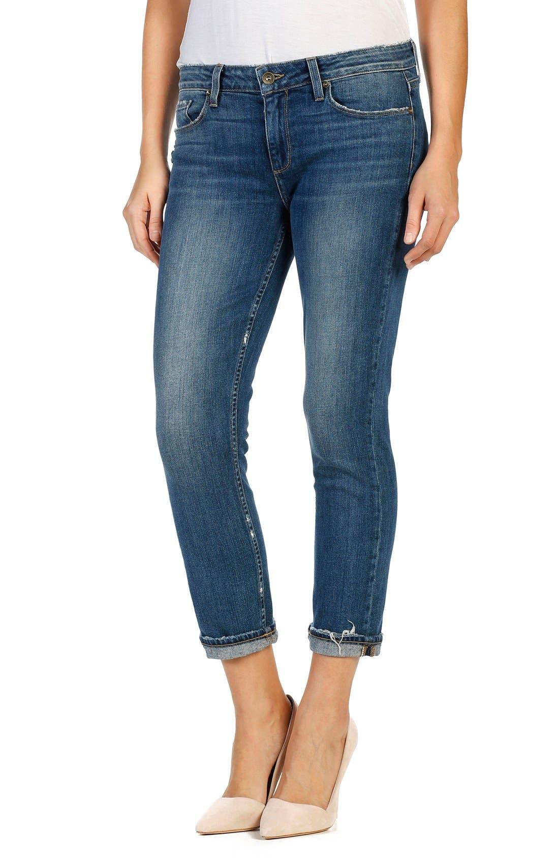 Anabelle Crop Slim Boyfriend Jeans,                             Alternate thumbnail 5, color,                             400