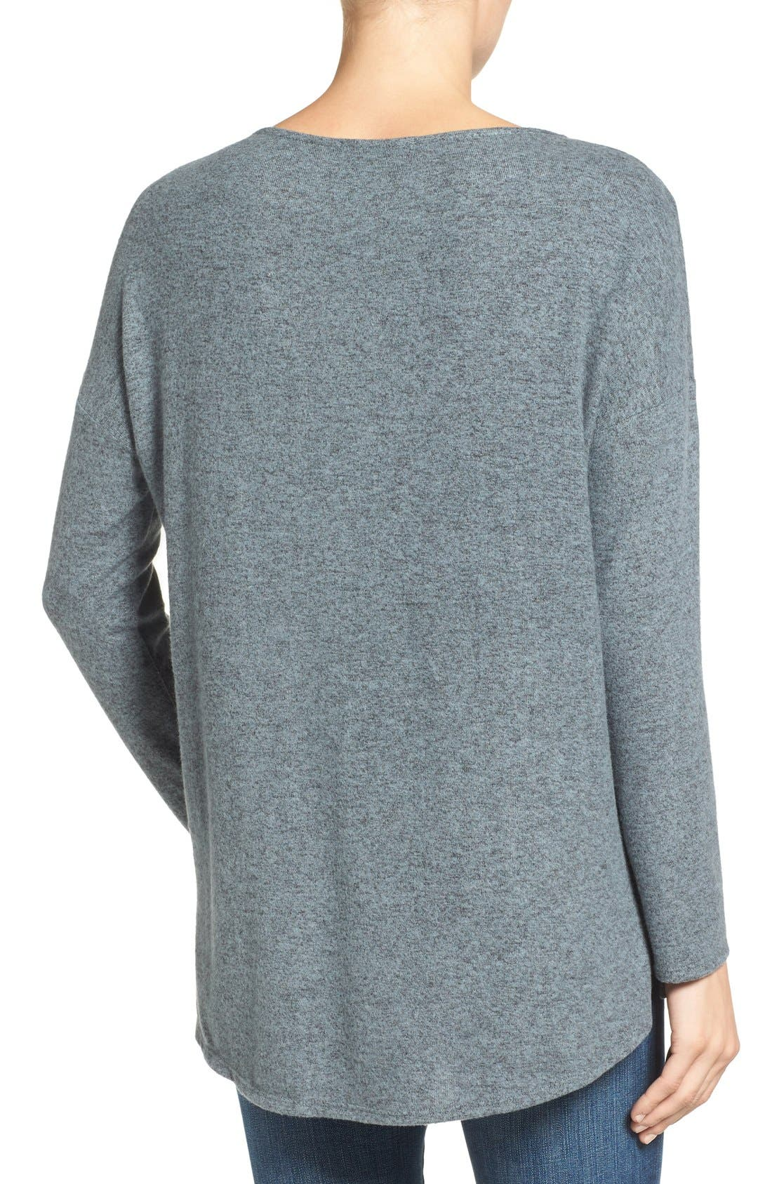 Cozy Ballet Neck High/Low Pullover,                             Alternate thumbnail 64, color,