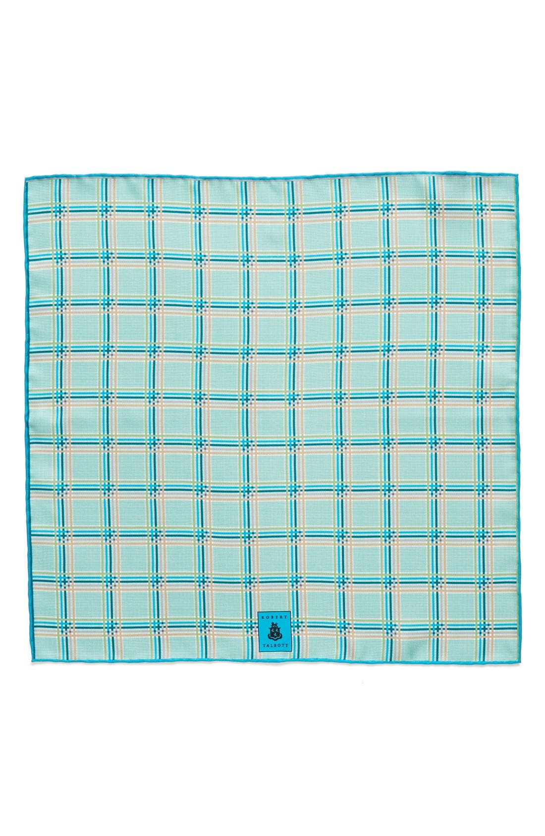 Plaid Silk Pocket Square,                             Alternate thumbnail 10, color,