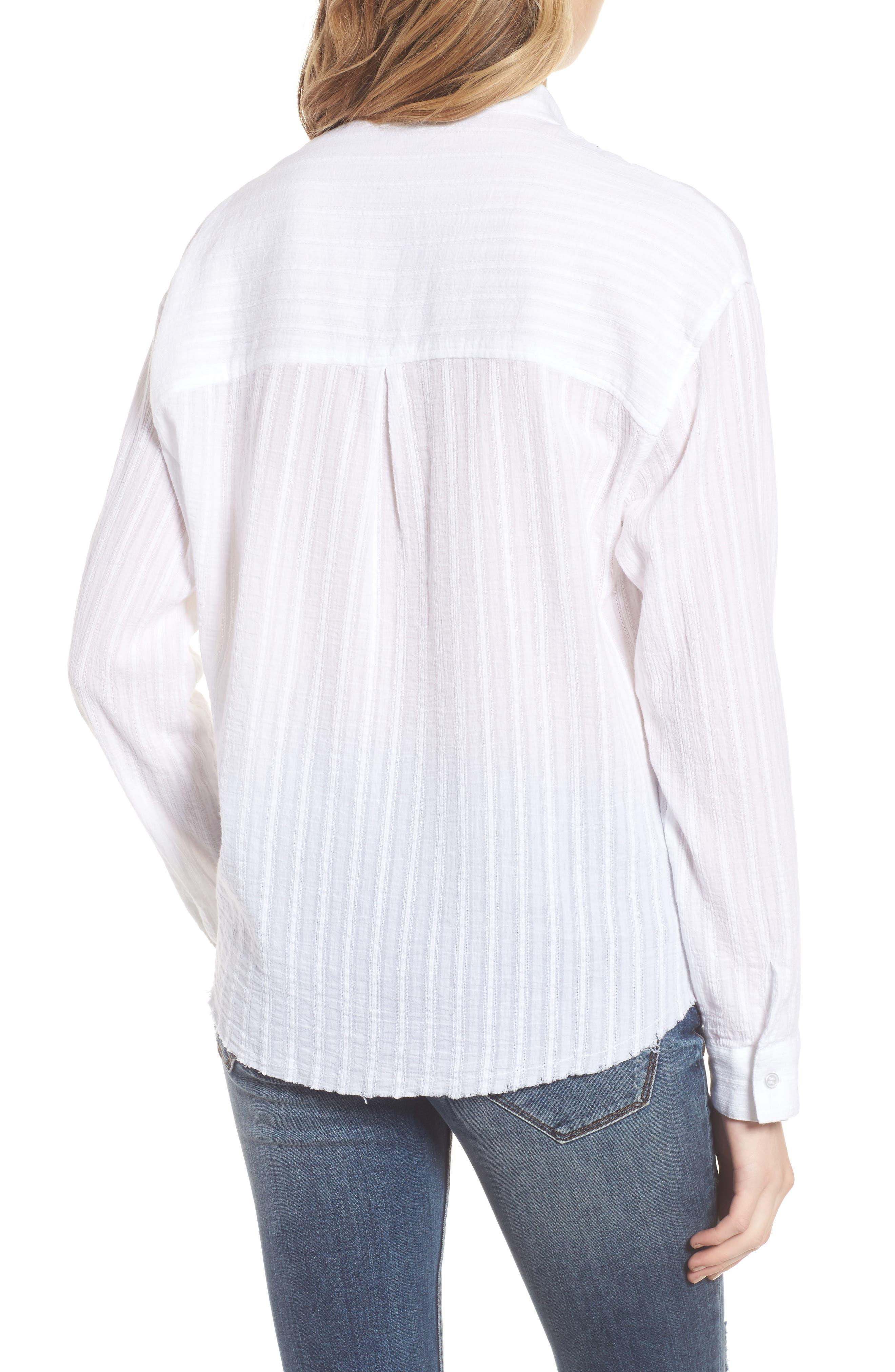 Raw Hem Shirt,                             Alternate thumbnail 2, color,                             100