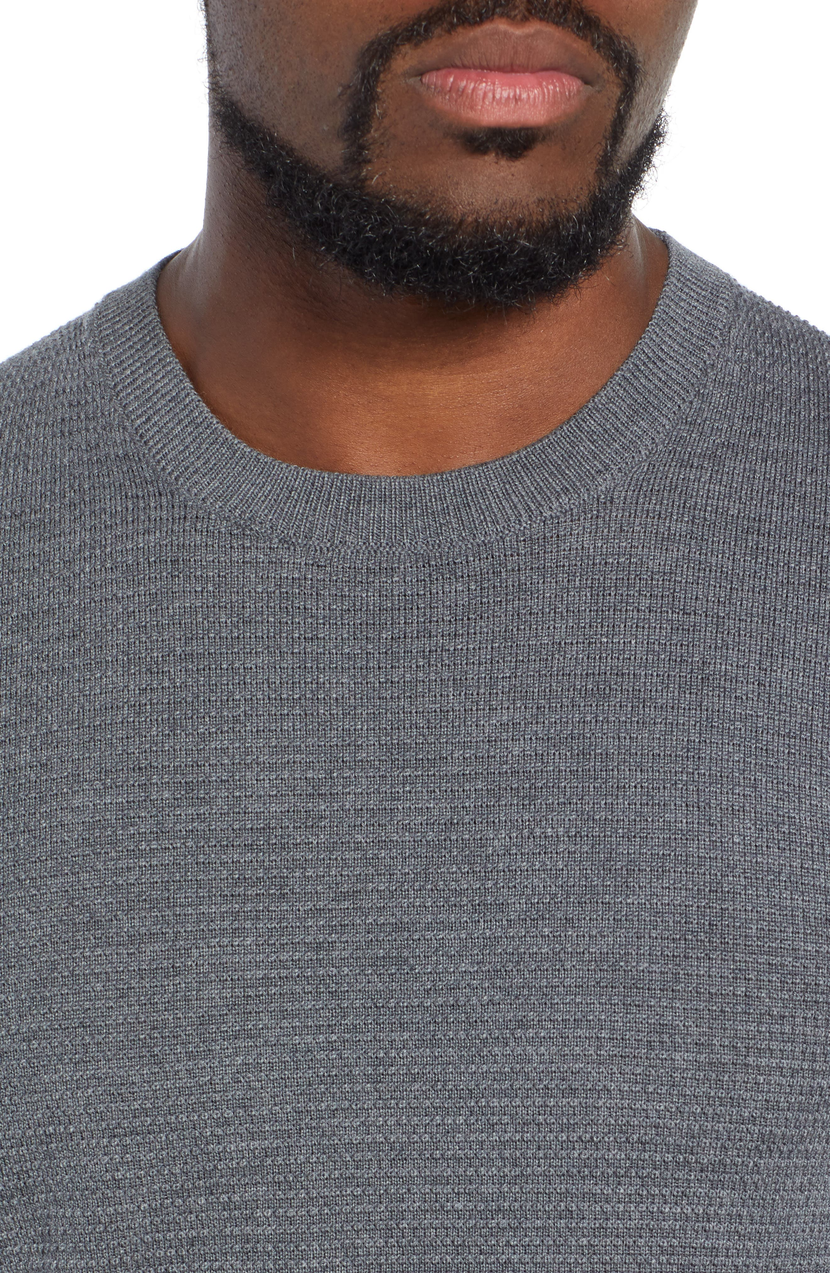 BOSS,                             Ellegri Regular Fit Wool Pullover,                             Alternate thumbnail 4, color,                             030