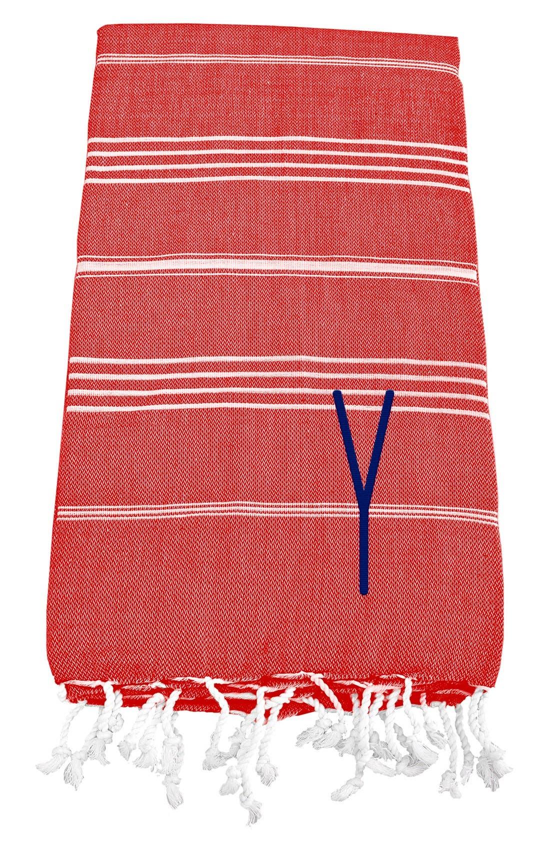 Monogram Turkish Cotton Towel,                             Main thumbnail 134, color,