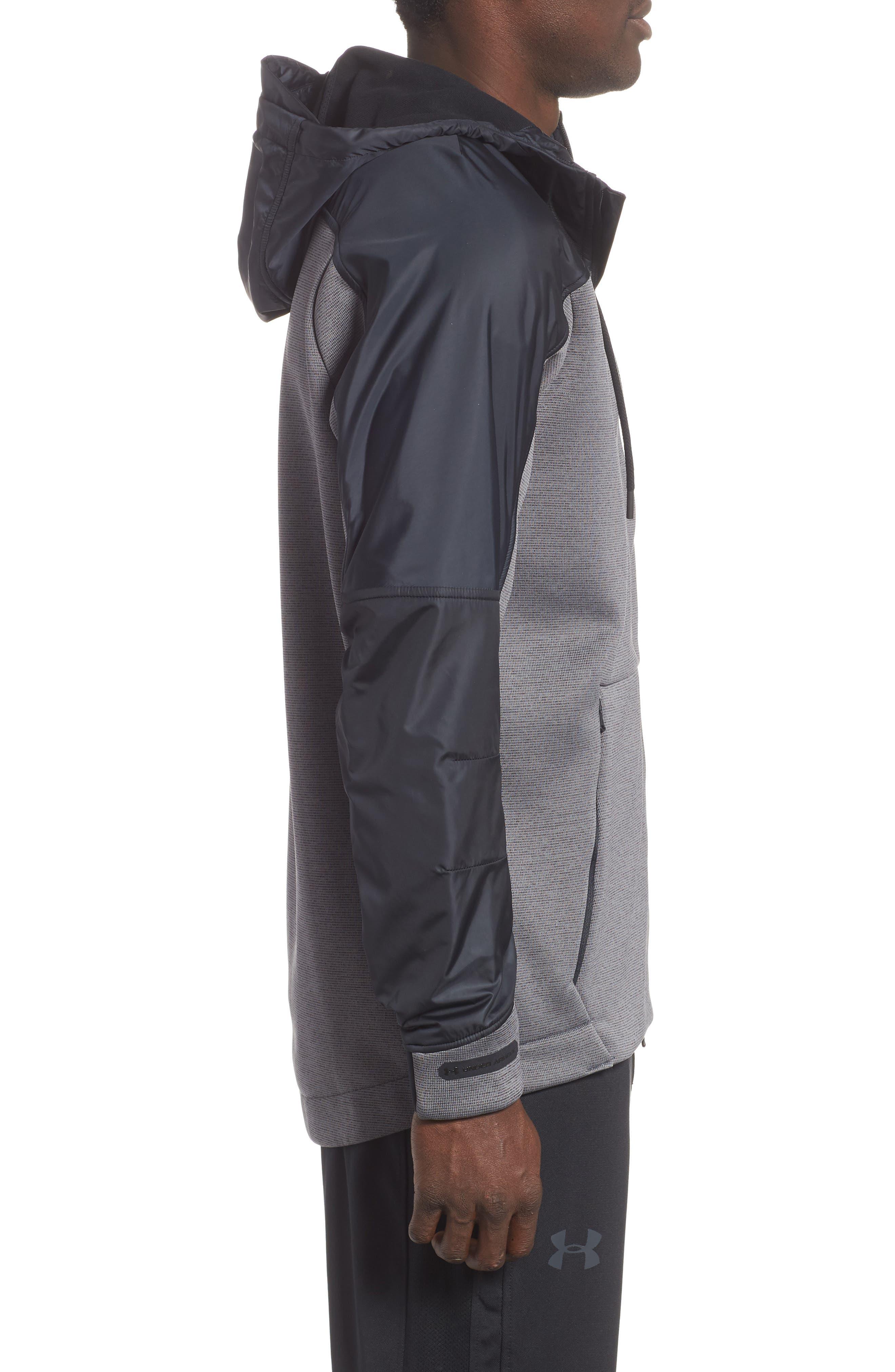 Unstoppable ColdGear<sup>®</sup> Jacket,                             Alternate thumbnail 3, color,                             CHARCOAL/ BLACK