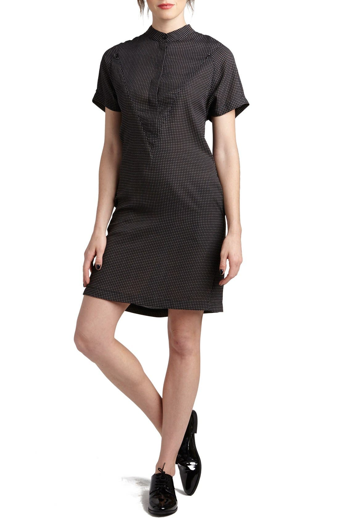 'Erin' Print Maternity/Nursing Shirtdress,                         Main,                         color, CHECK STAR