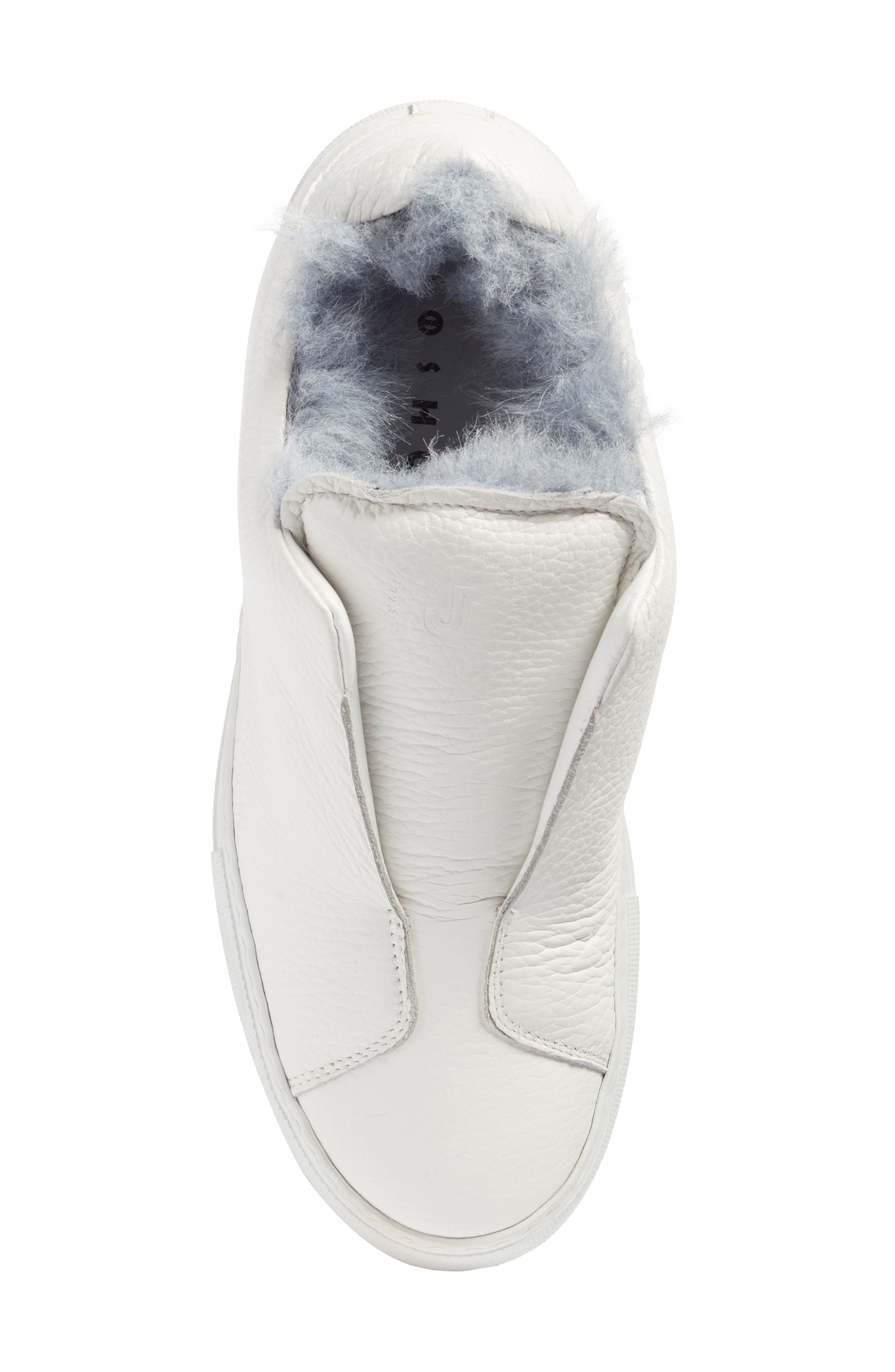 Faux Fur Slip-On Sneaker,                             Alternate thumbnail 9, color,