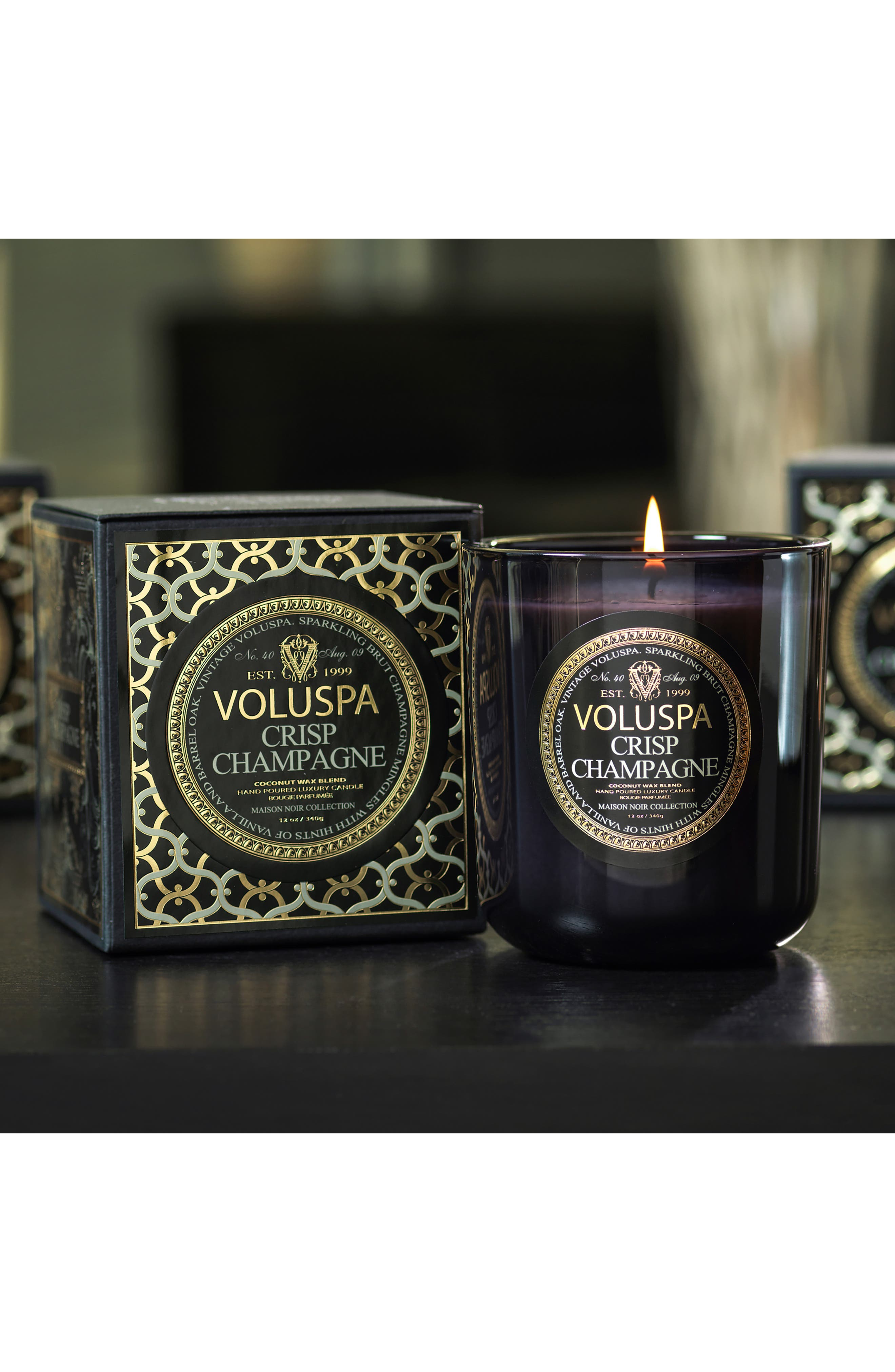VOLUSPA,                             Maison Noir Crisp Champagne Classic Maison Candle,                             Alternate thumbnail 4, color,                             NO COLOR