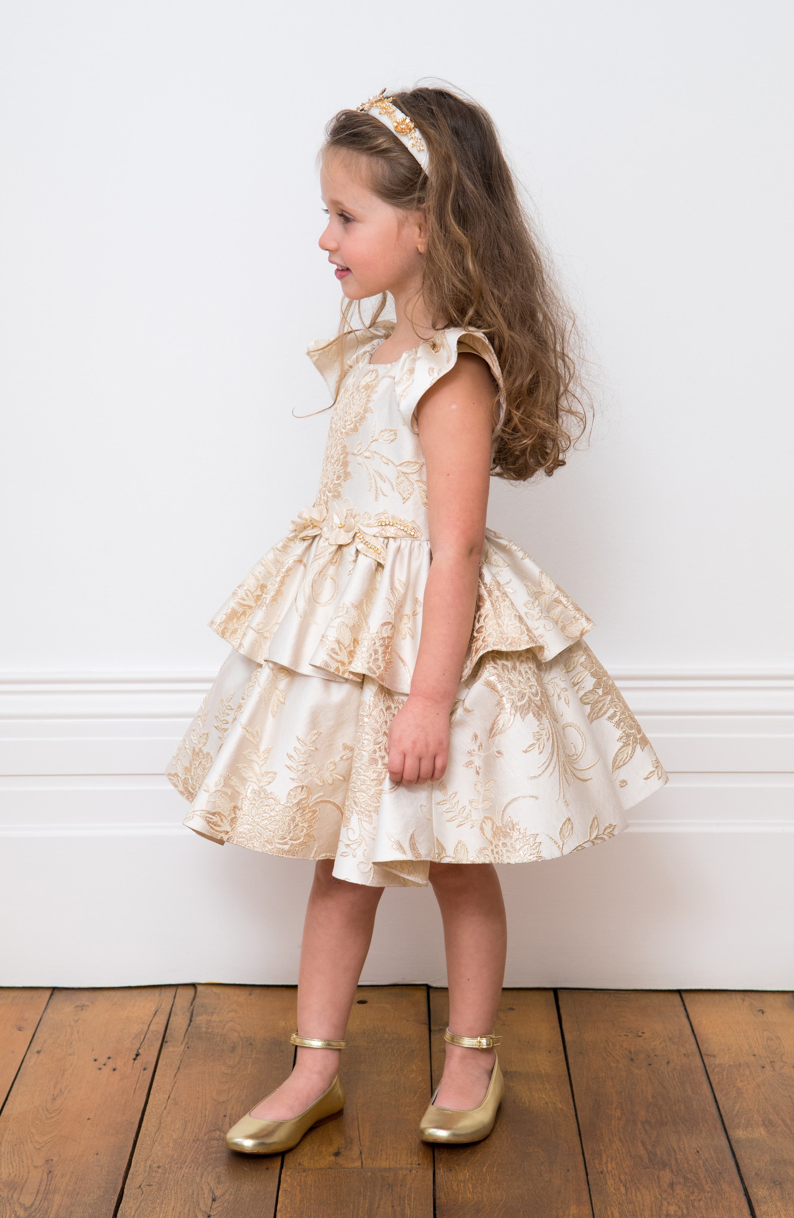 Brocade Dress,                             Alternate thumbnail 5, color,                             900