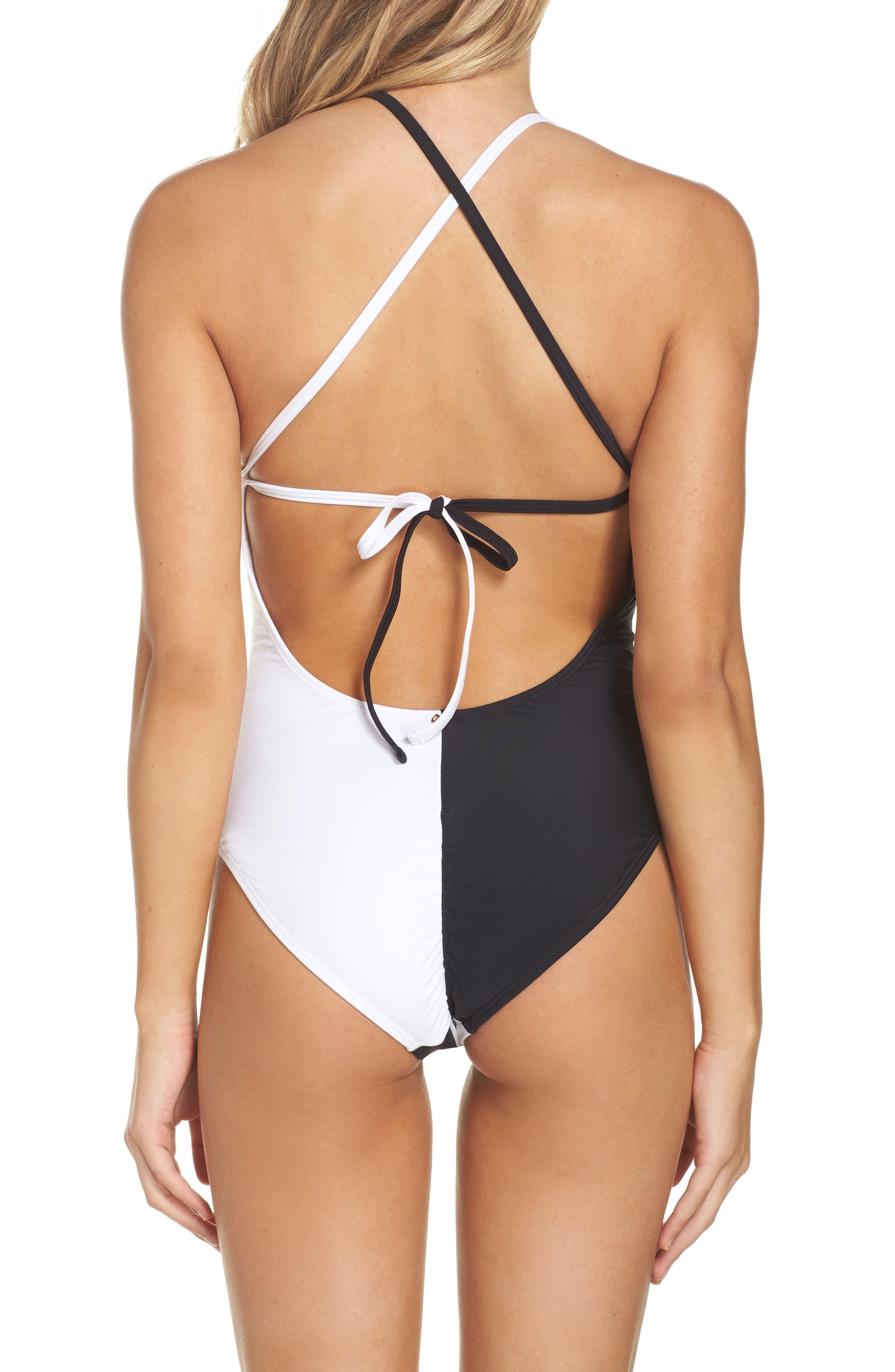 Farrah One-Piece Swimsuit,                             Alternate thumbnail 2, color,                             001