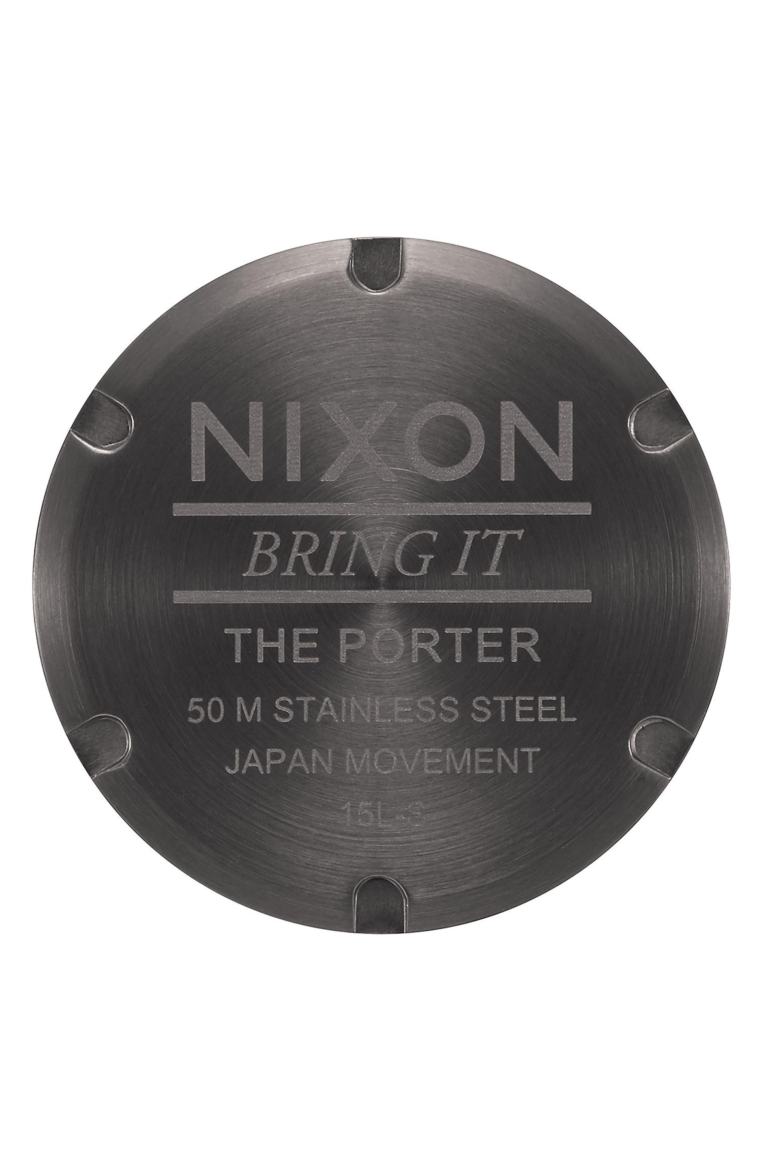 Porter Nylon Strap Watch, 40mm,                             Alternate thumbnail 19, color,
