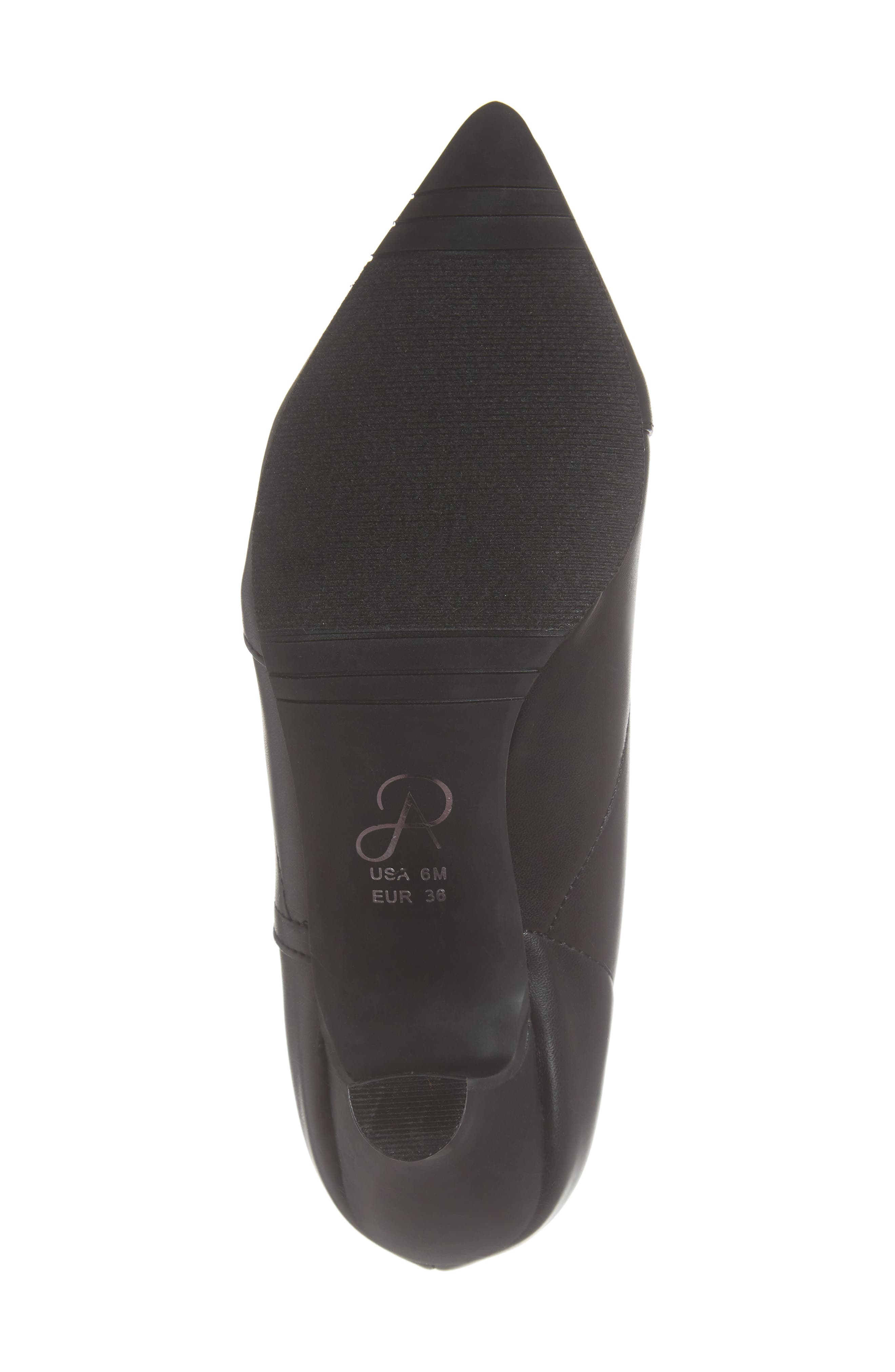 Hayes Pointy Toe Bootie,                             Alternate thumbnail 6, color,                             BLACK LEATHER