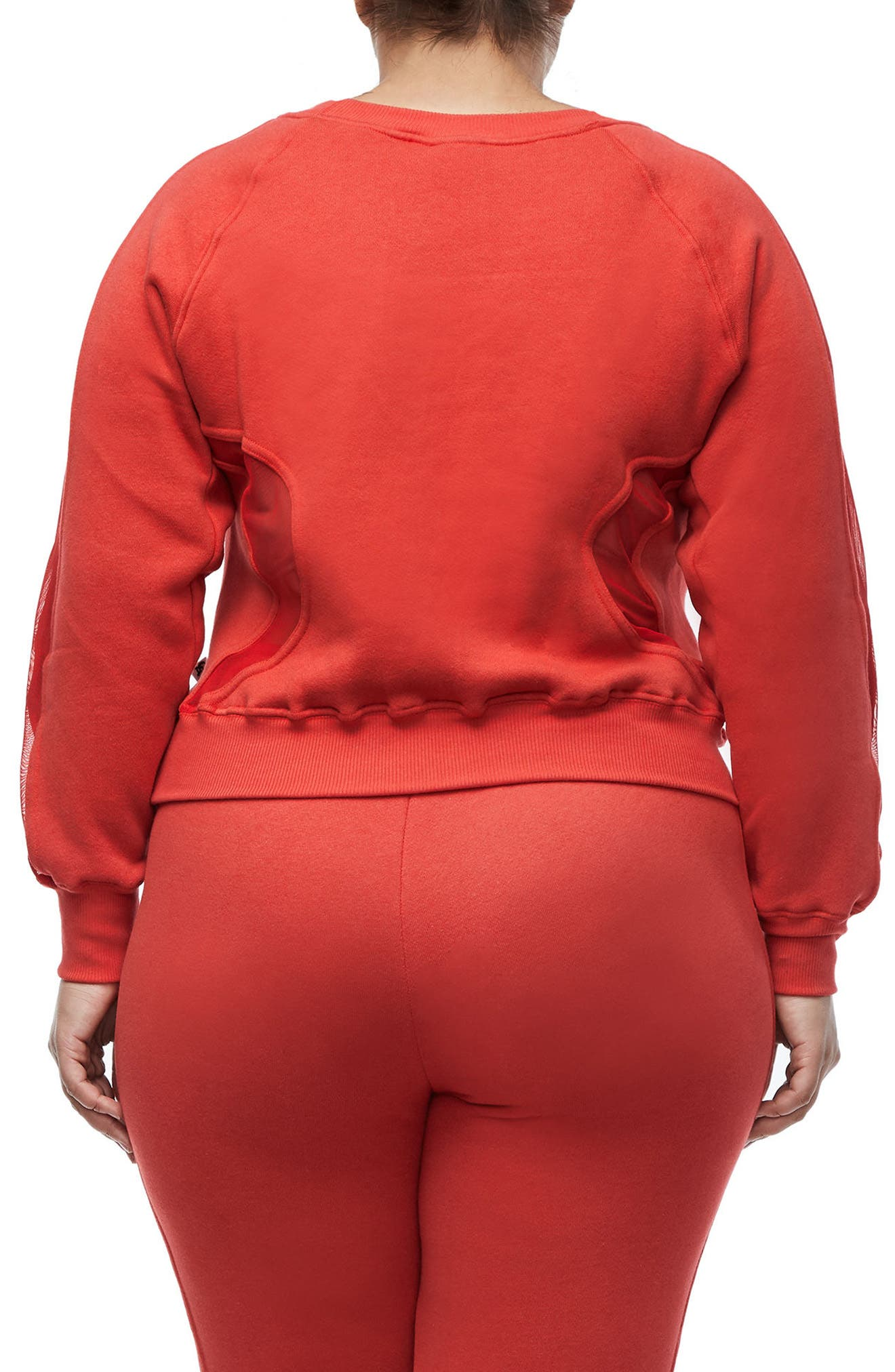 Good Sweats Mesh Inset Sweatshirt,                             Alternate thumbnail 4, color,