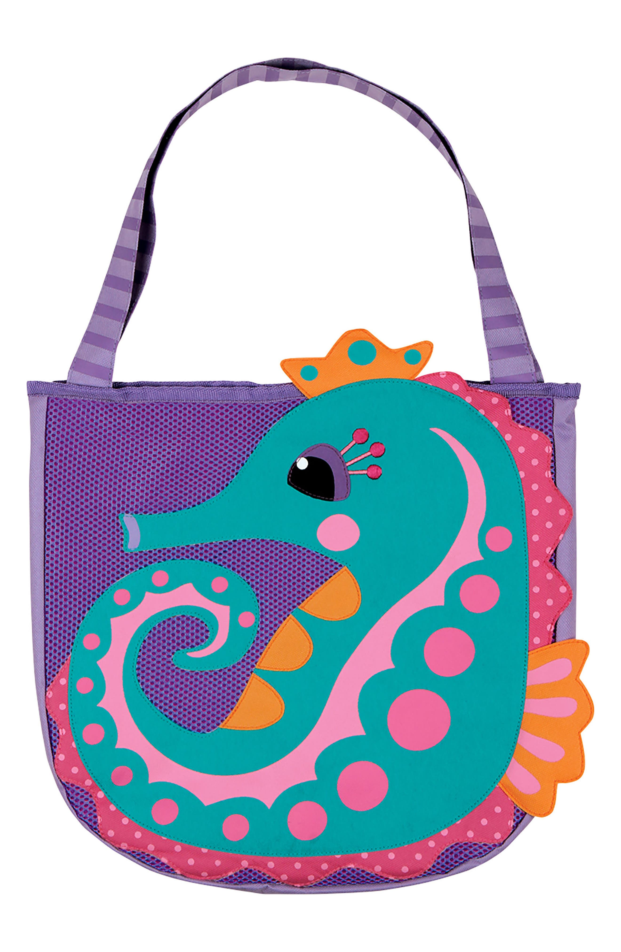 Beach Tote, Hooded Towel & Toys,                             Alternate thumbnail 3, color,                             BLUE SEAHORSE