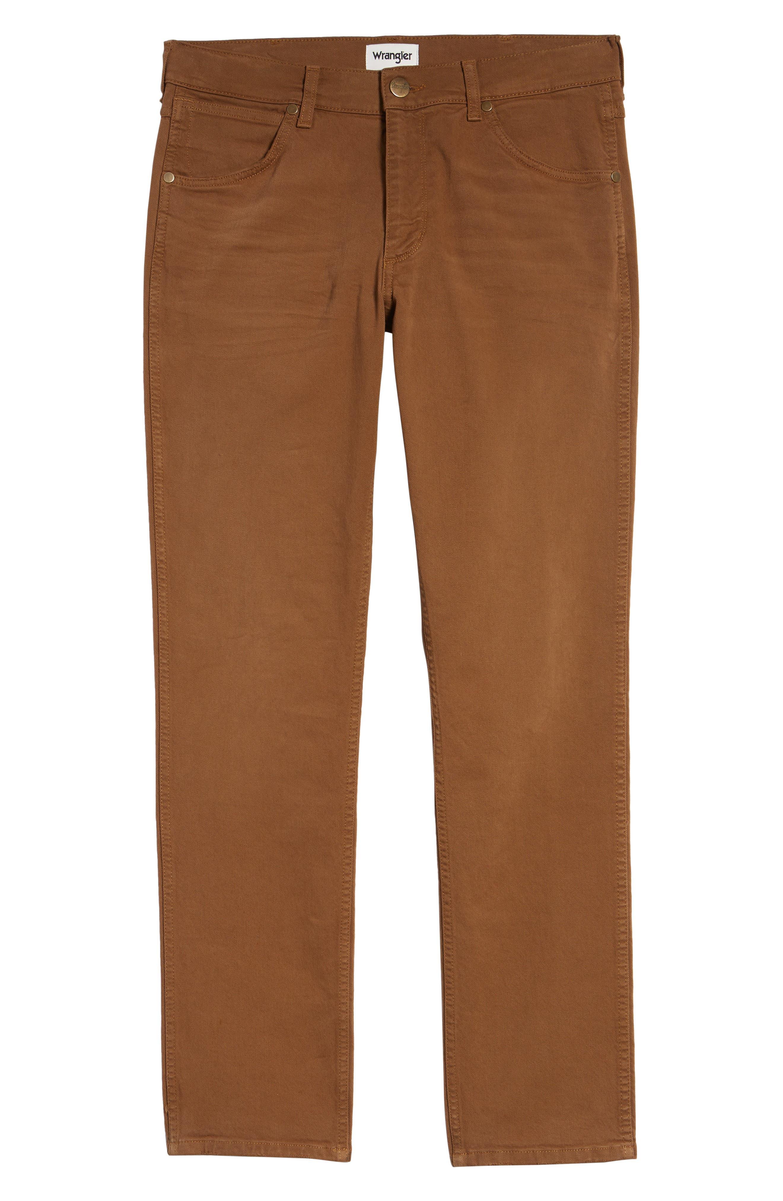 WRANGLER,                             Greensboro Straight Leg Pants,                             Alternate thumbnail 6, color,                             BISCUIT