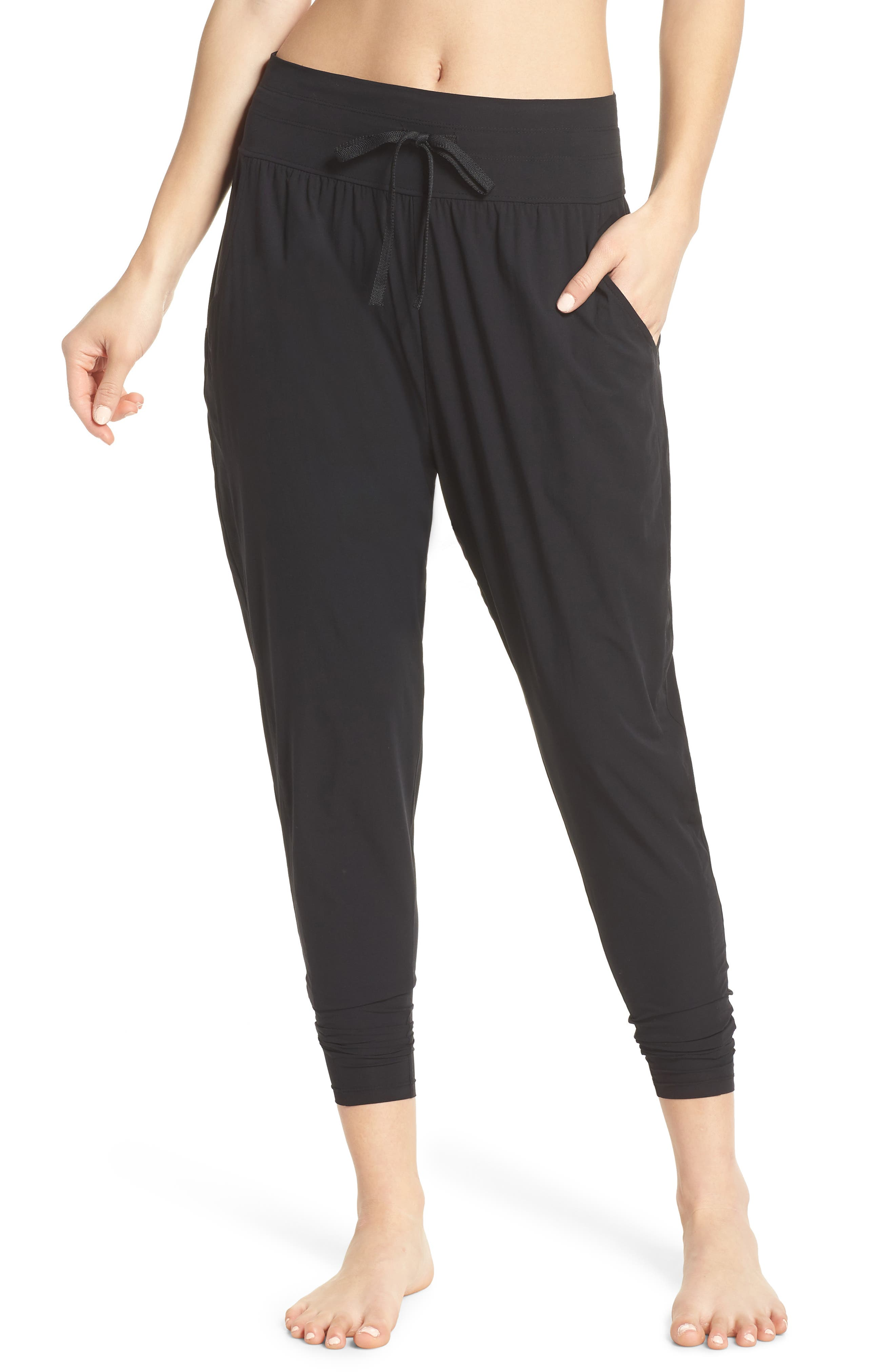 FREE PEOPLE MOVEMENT,                             Cardio Harem Pants,                             Main thumbnail 1, color,                             001
