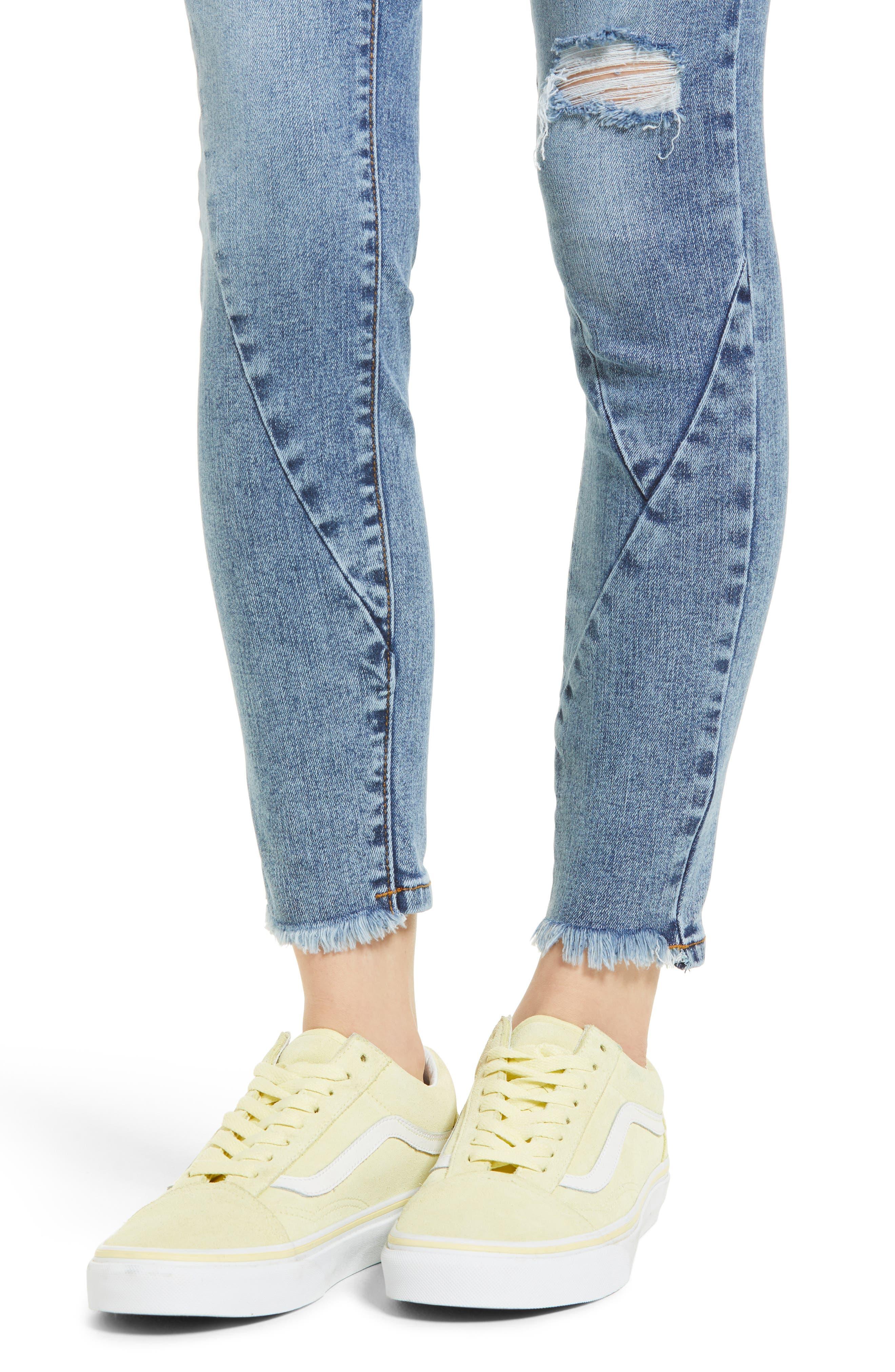 The Reade Seam Detail Skinny Jeans,                             Alternate thumbnail 4, color,                             400