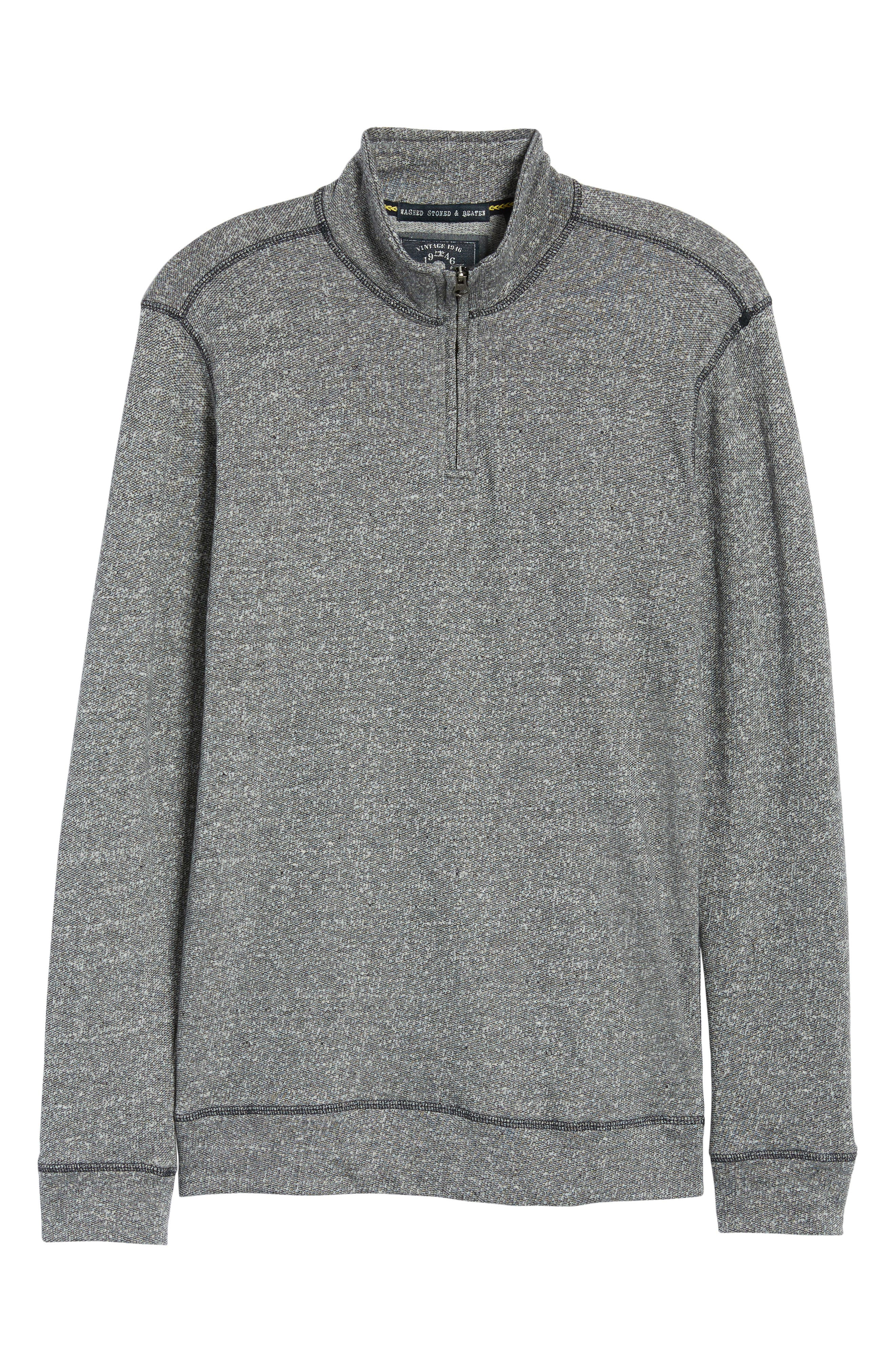 Regular Fit French Terry Pullover,                             Alternate thumbnail 6, color,                             CHARCOAL