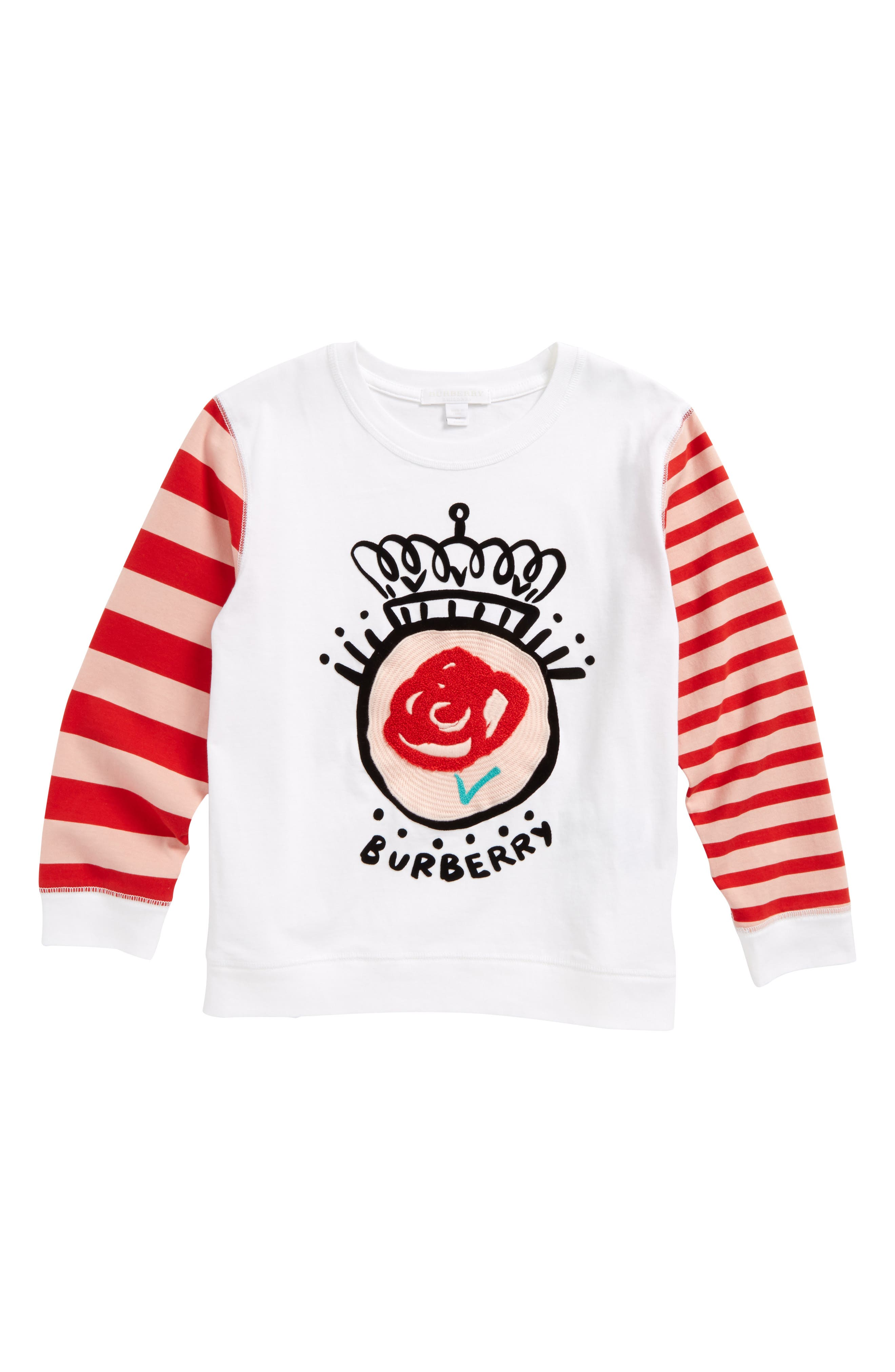 Rose Stripe Top,                         Main,                         color, 100