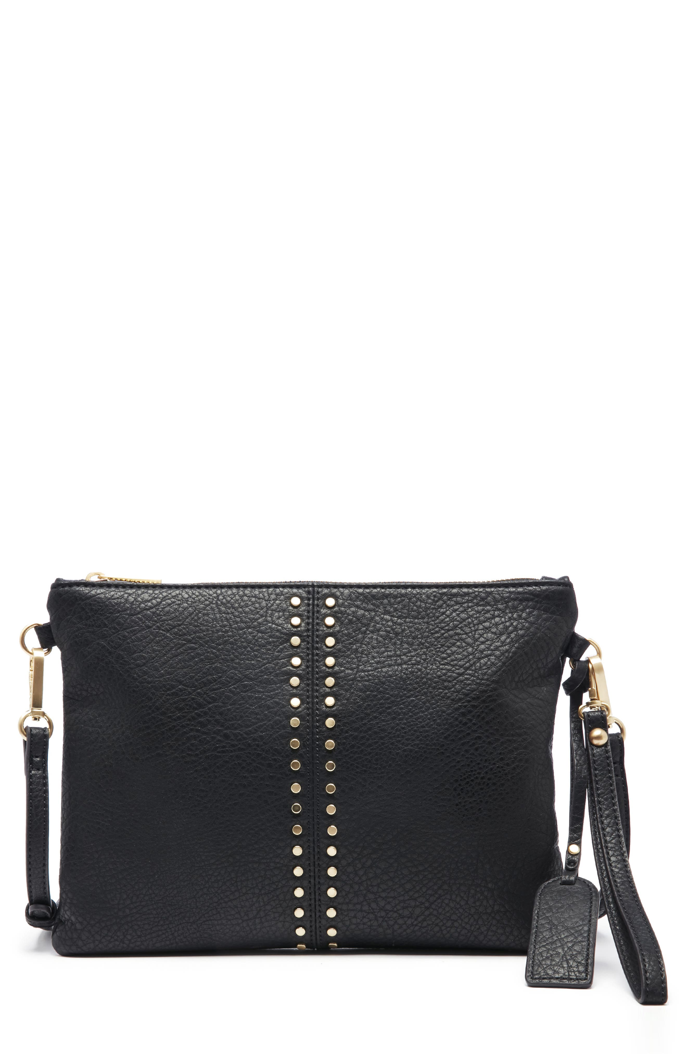 Bayle Faux Leather Clutch,                         Main,                         color, 001