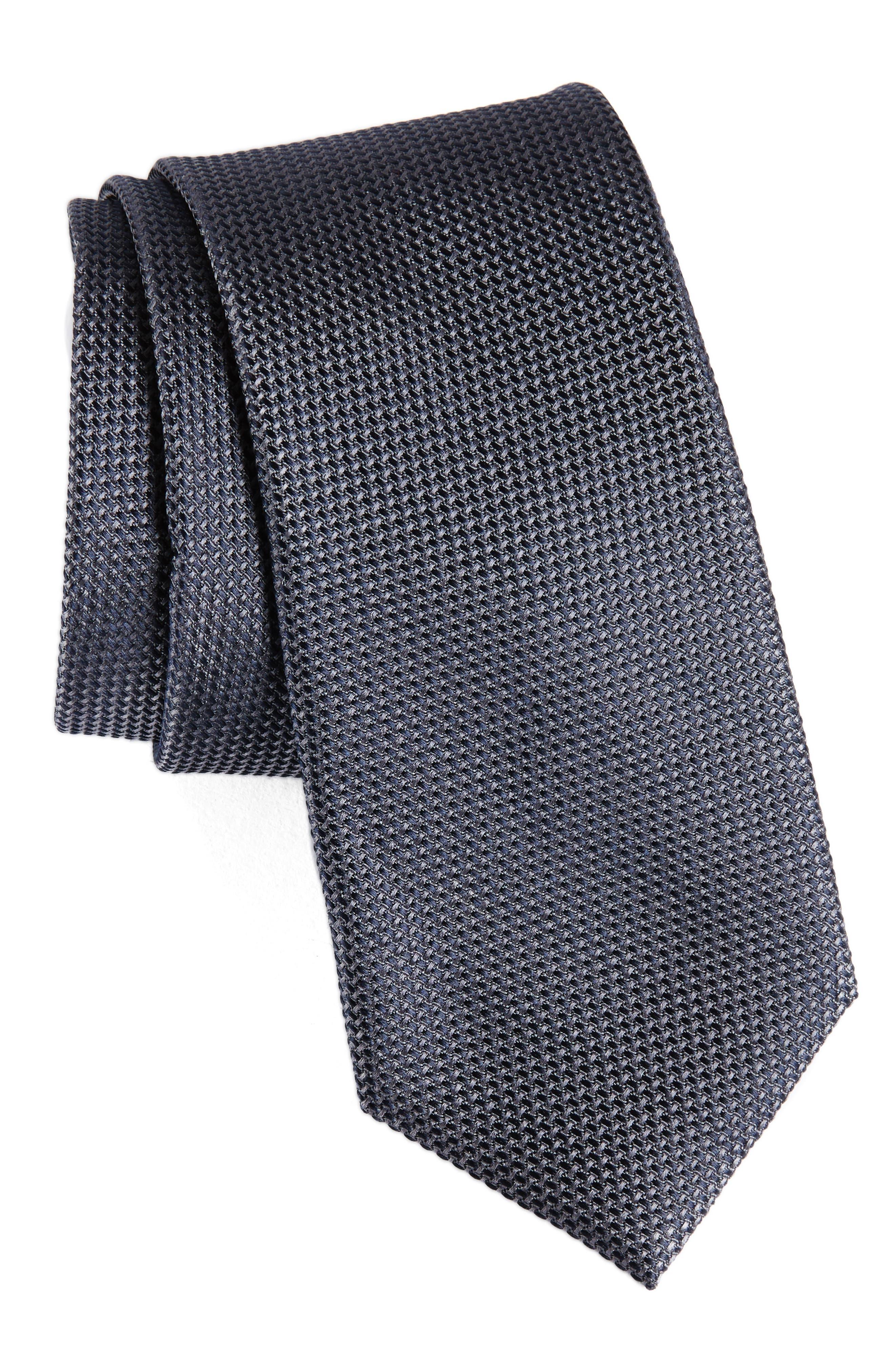 Solid Silk Tie,                         Main,                         color, 025
