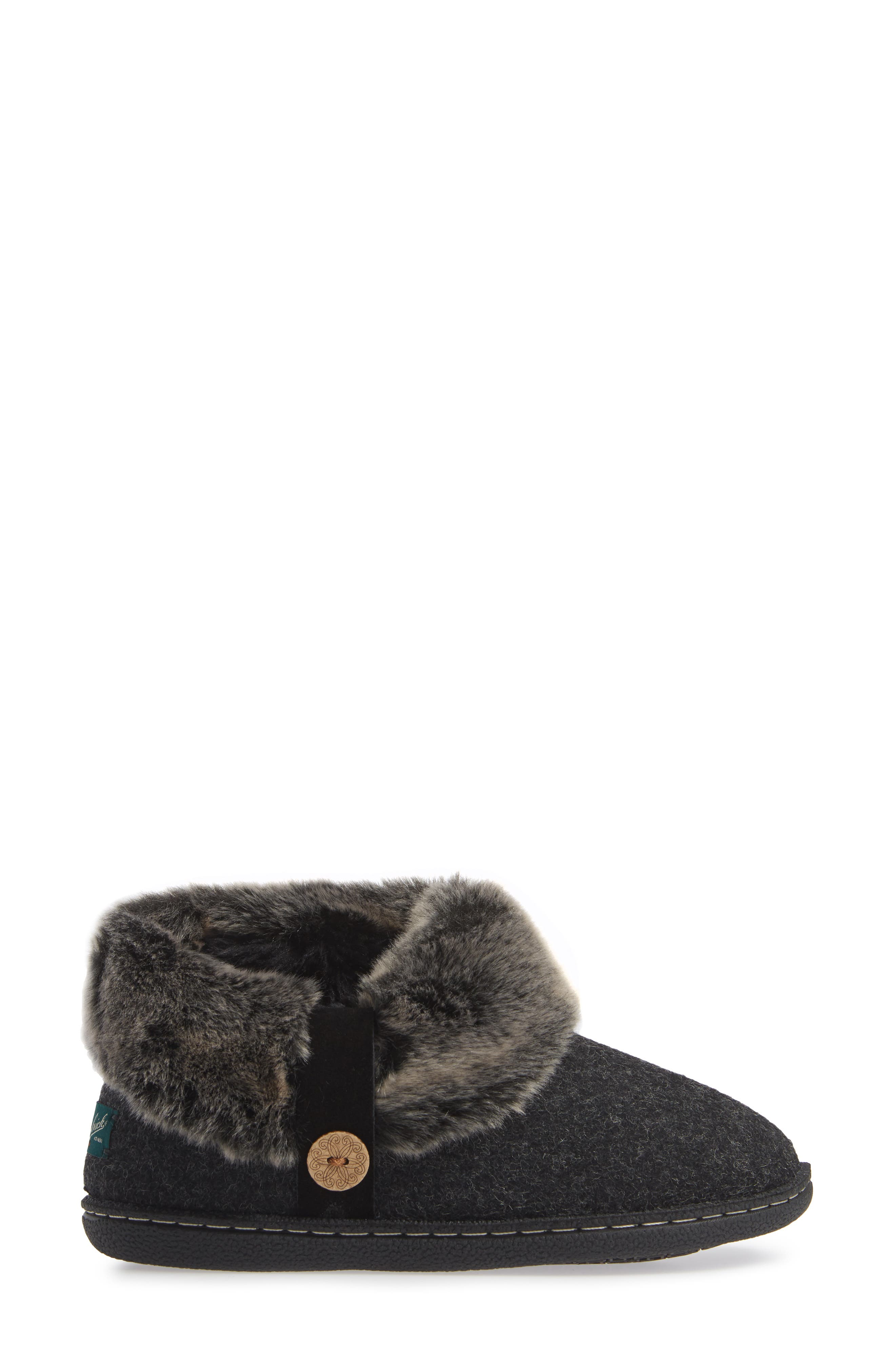 Grand Lodge Slipper,                             Alternate thumbnail 3, color,                             BLACK WOOL