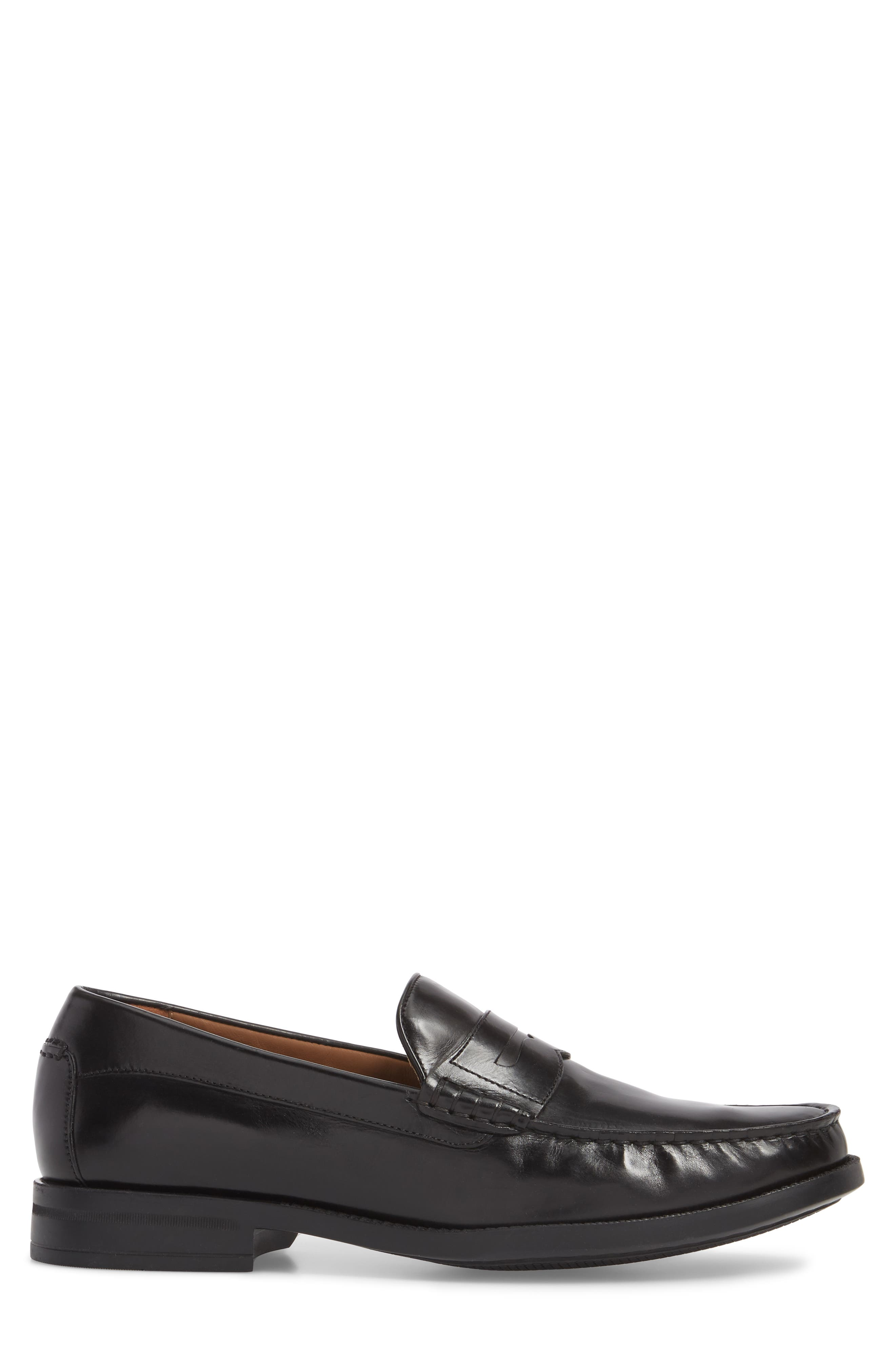 Chadwell Penny Loafer,                             Alternate thumbnail 3, color,                             BLACK LEATHER