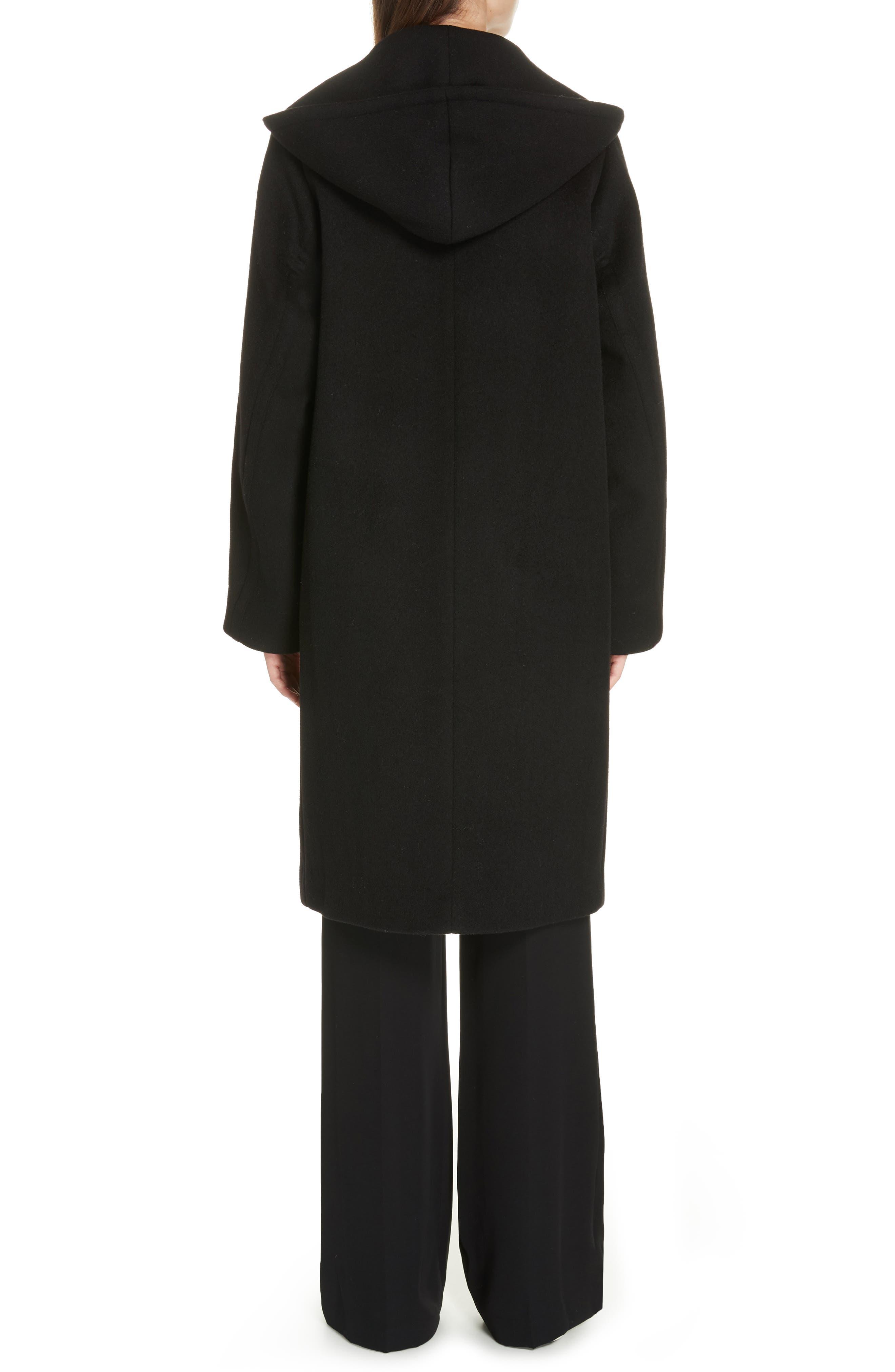 VINCE,                             Hooded Coat,                             Alternate thumbnail 2, color,                             BLACK