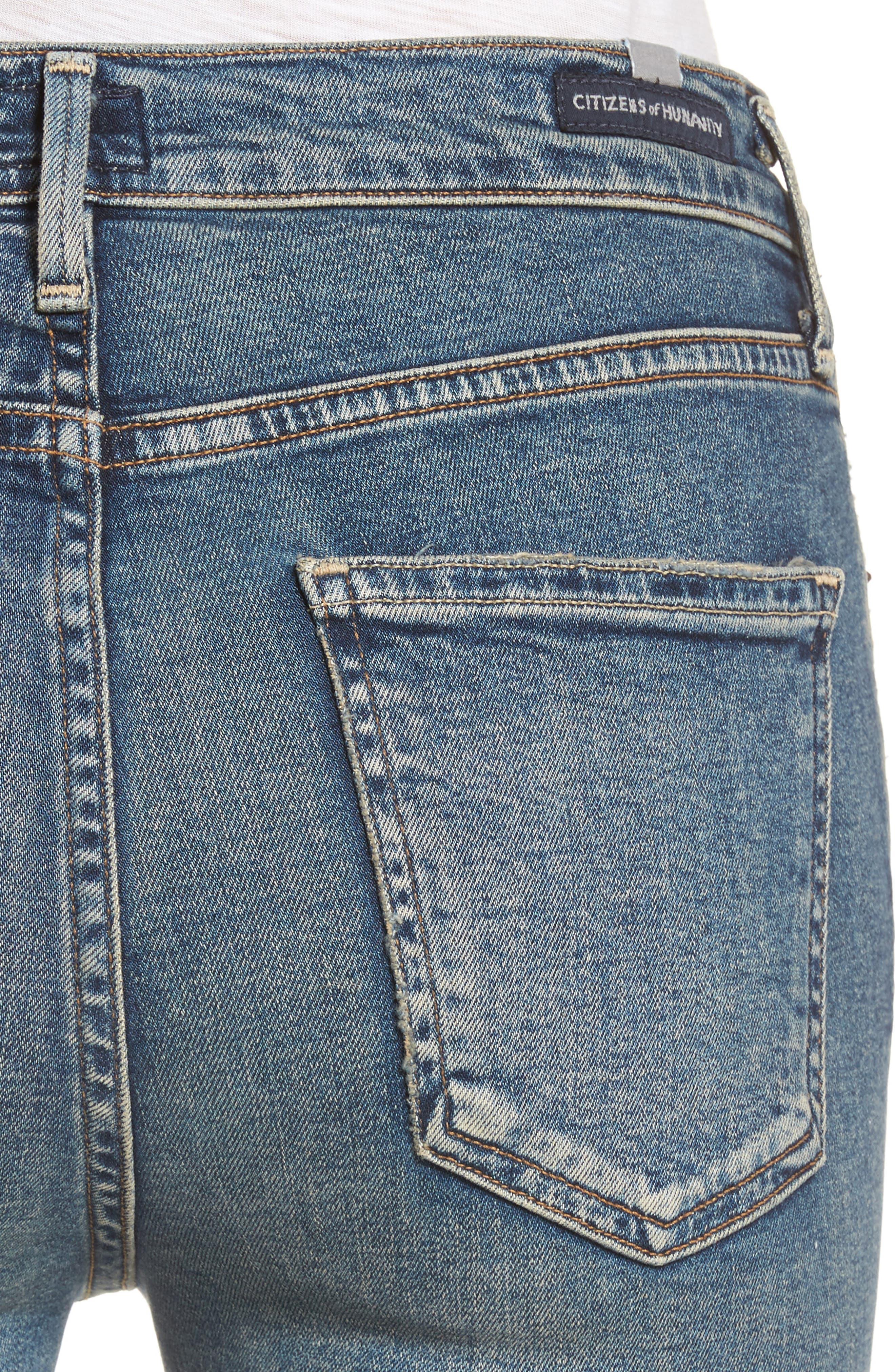 Rocket Crop Skinny Jeans,                             Alternate thumbnail 4, color,                             405