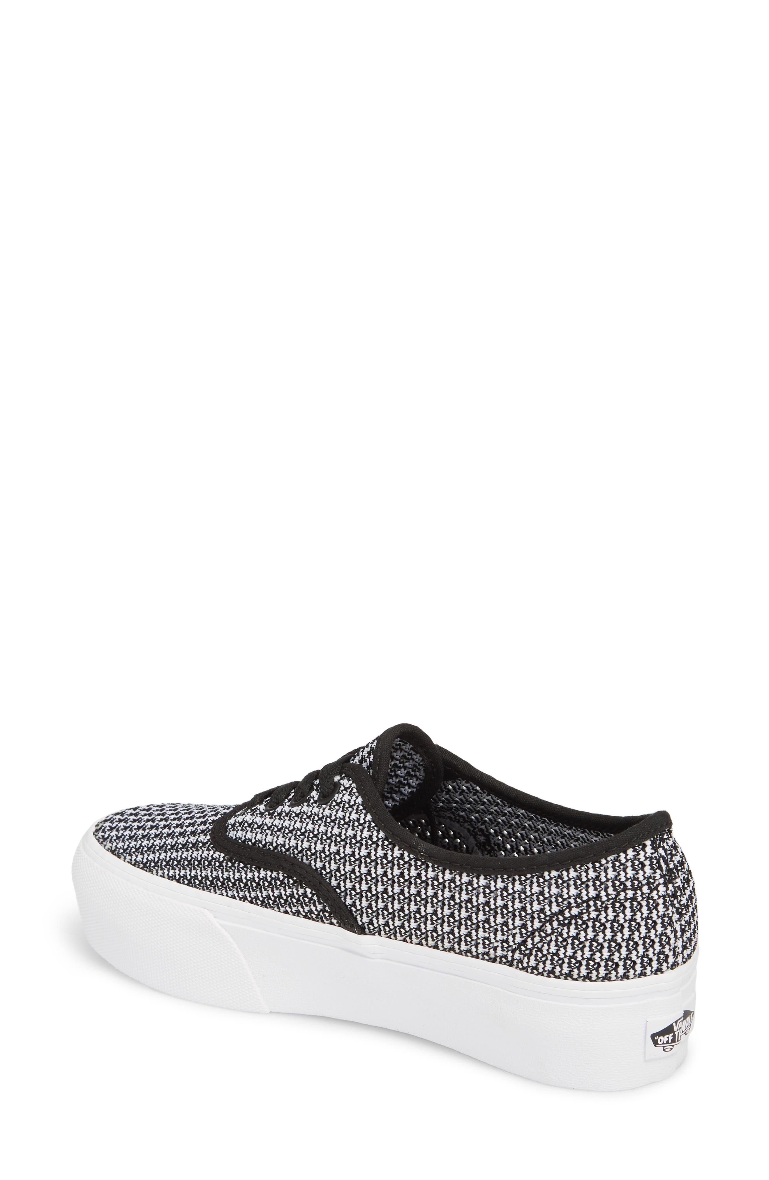 VANS,                             'Authentic' Platform Sneaker,                             Alternate thumbnail 2, color,                             004