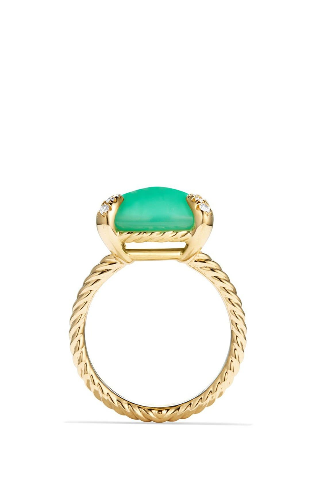 'Chatelaine' Ring with Diamonds,                             Alternate thumbnail 3, color,                             CHRYSOPRASE