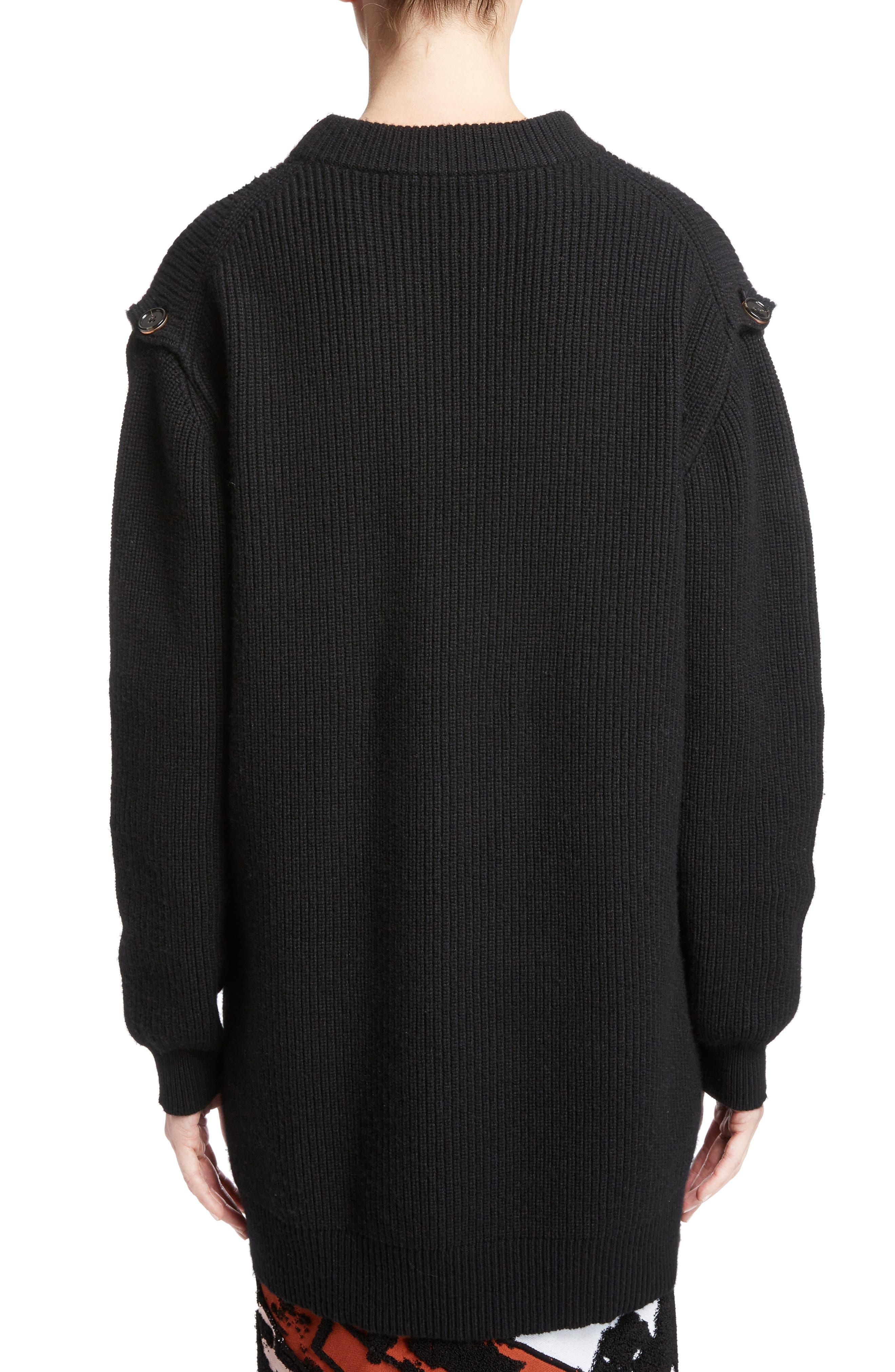Wool & Cashmere Blend Knit Tunic,                             Alternate thumbnail 2, color,                             001