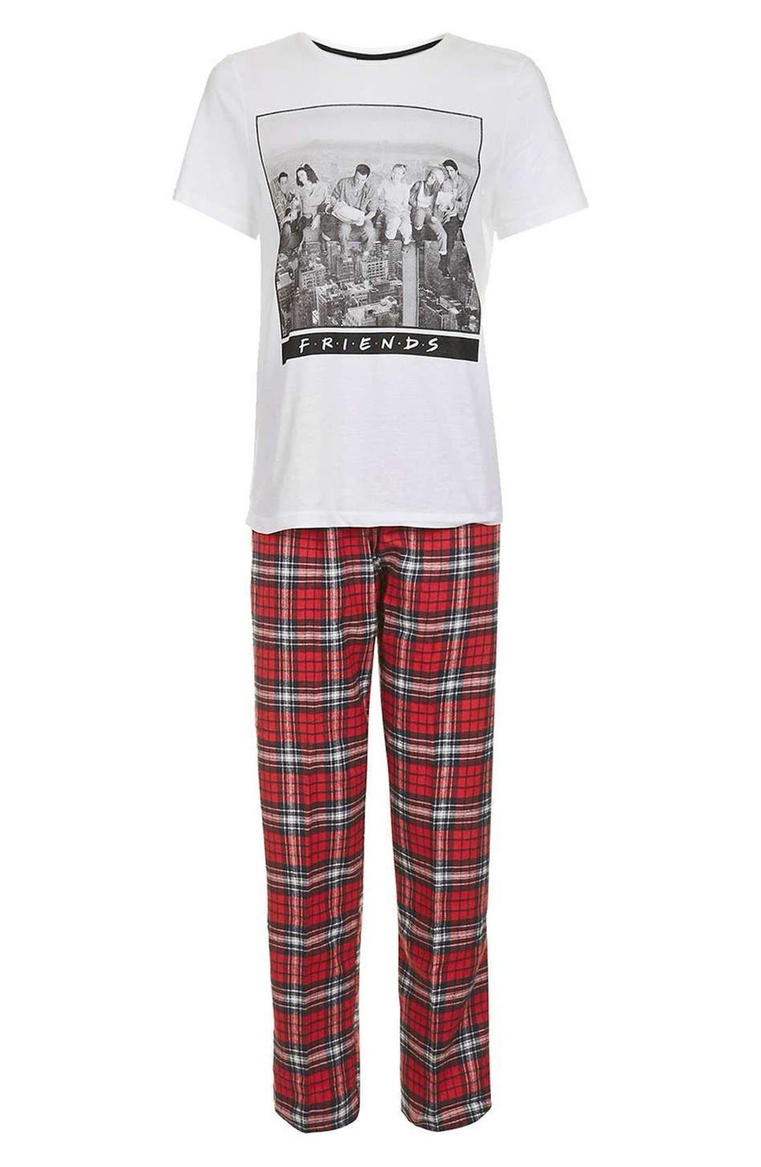 Friends Pajamas,                             Alternate thumbnail 4, color,                             100