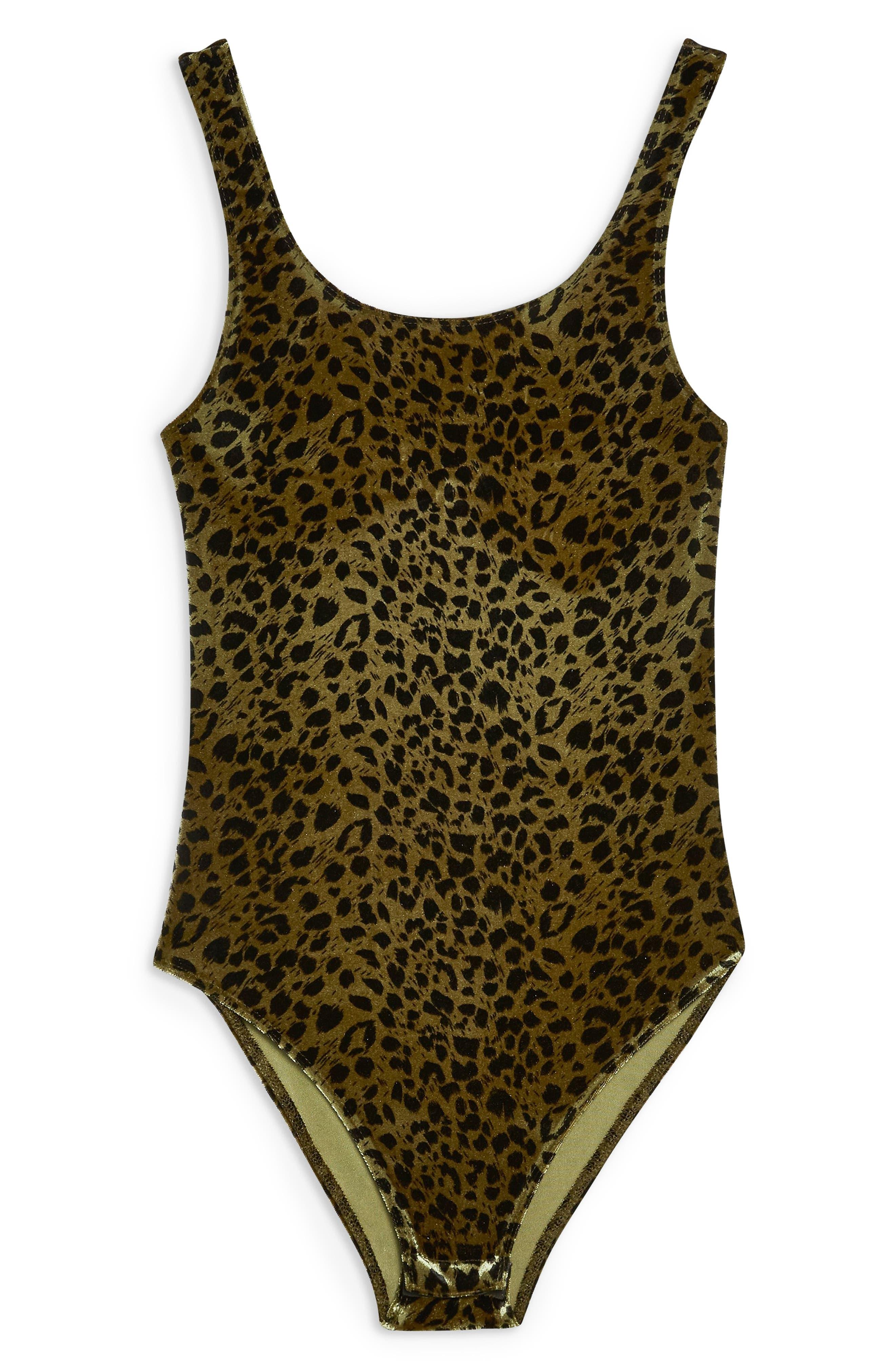 Animal Velvet Bodysuit,                             Alternate thumbnail 3, color,                             BROWN MULTI