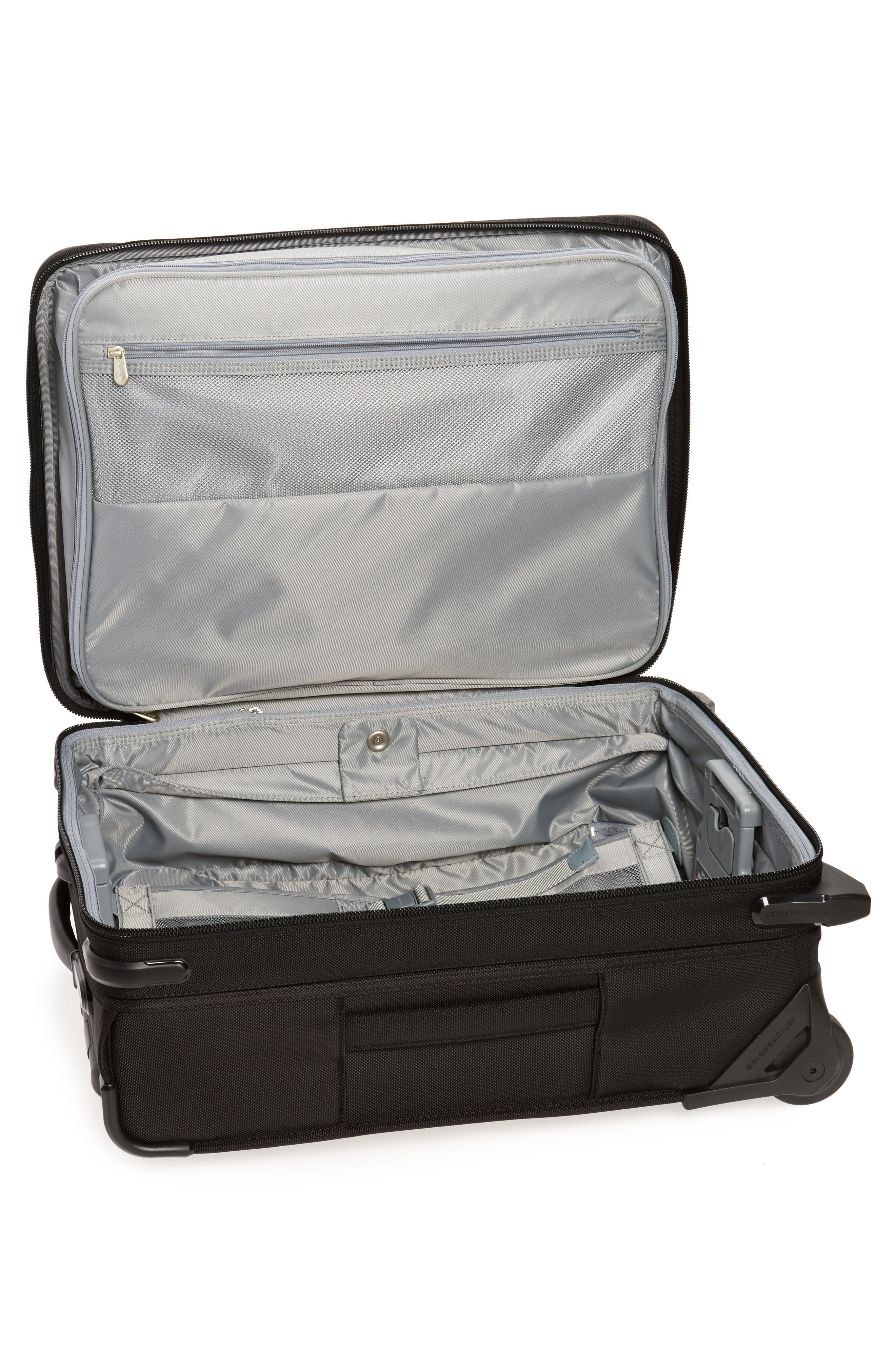 Baseline International 22-Inch Expandable Rolling Carry-On,                             Alternate thumbnail 2, color,                             BLACK