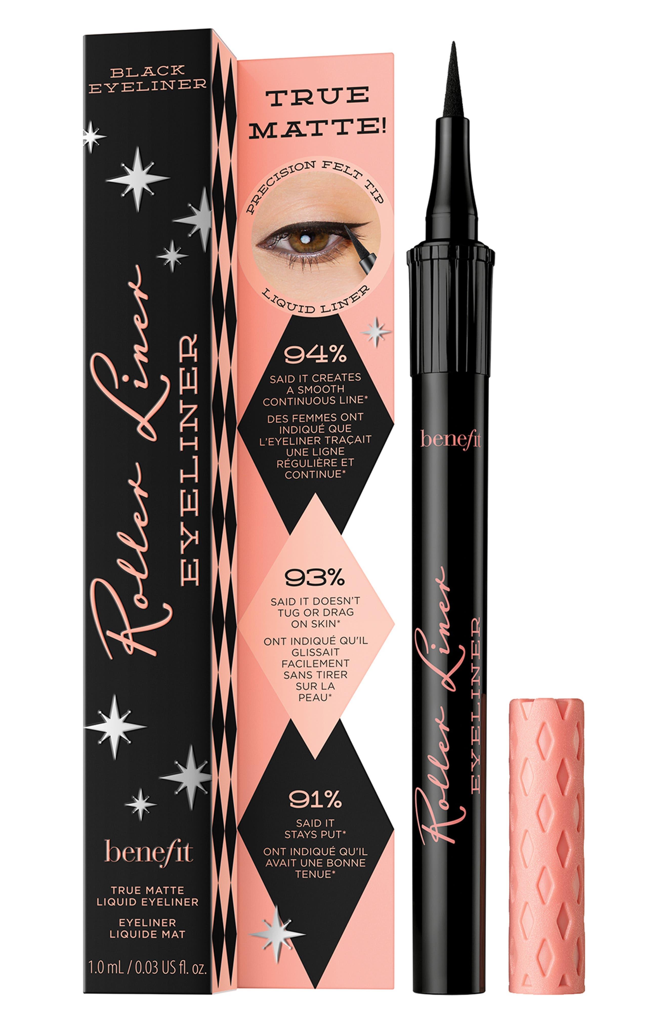 Benefit Roller Liner Matte Liquid Eyeliner,                             Alternate thumbnail 6, color,                             BLACK