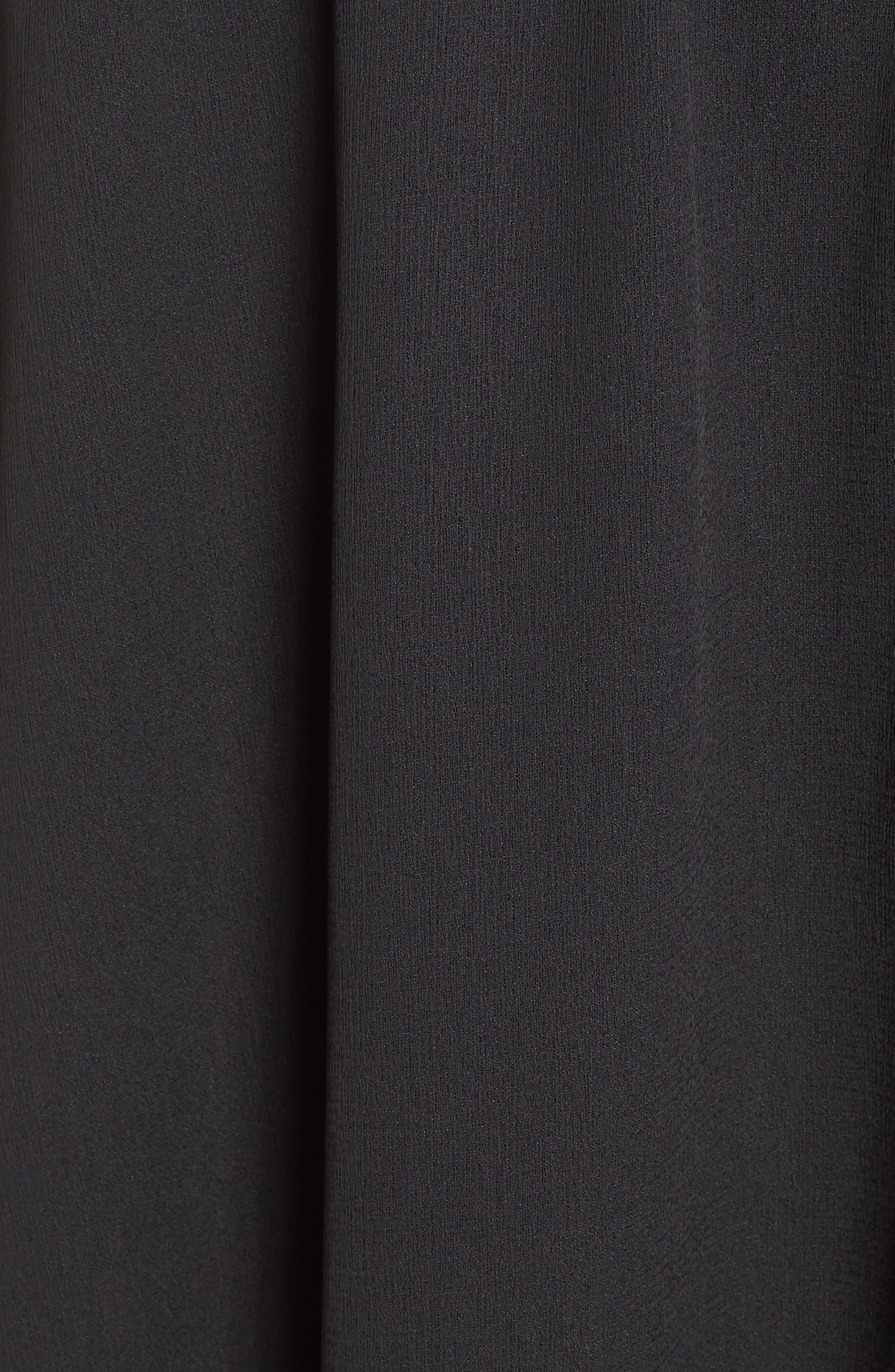 One-Shoulder Asymmetrical Dress,                             Alternate thumbnail 6, color,                             001