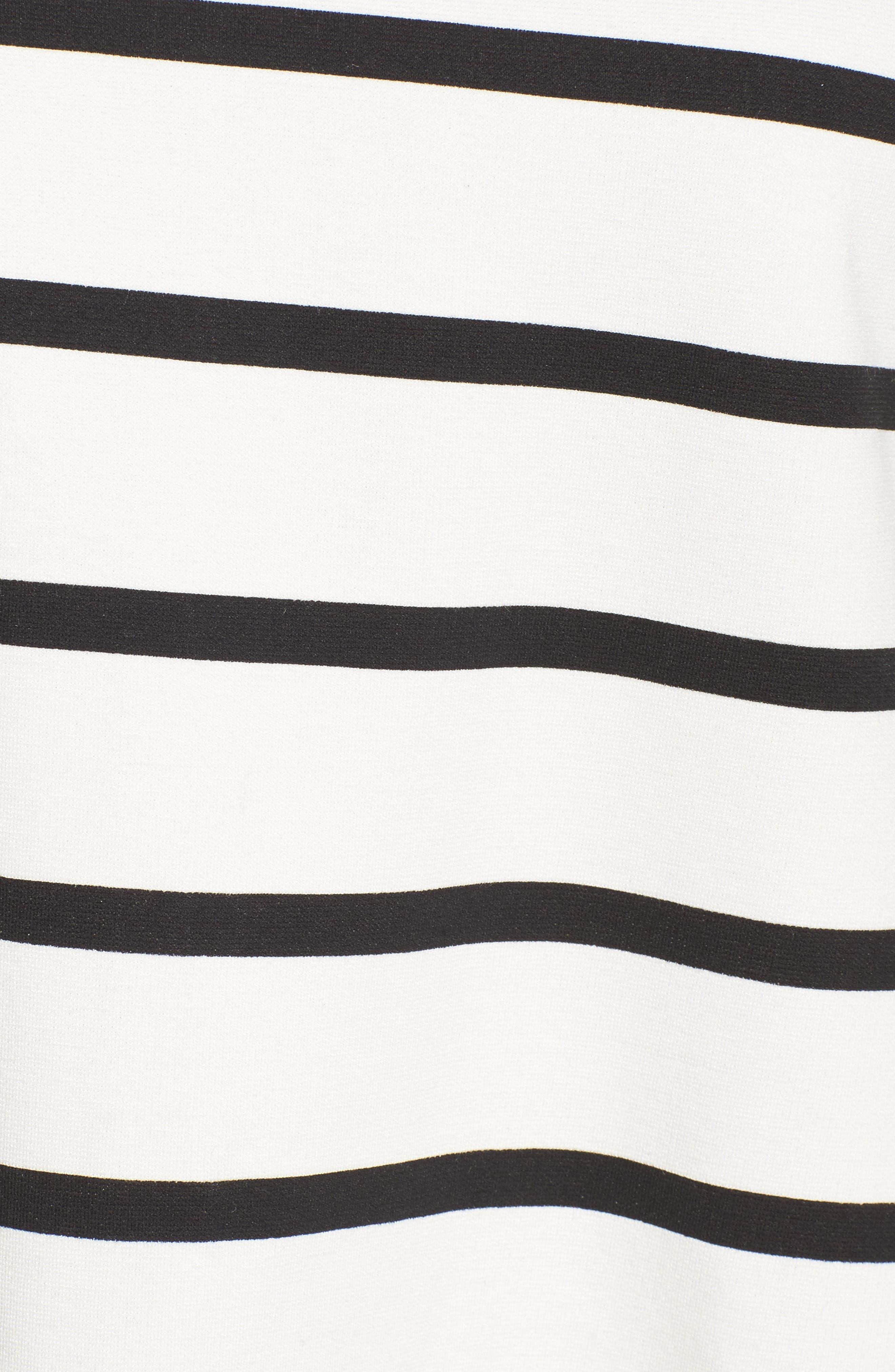 Stripe A-Line Dress,                             Alternate thumbnail 5, color,                             100