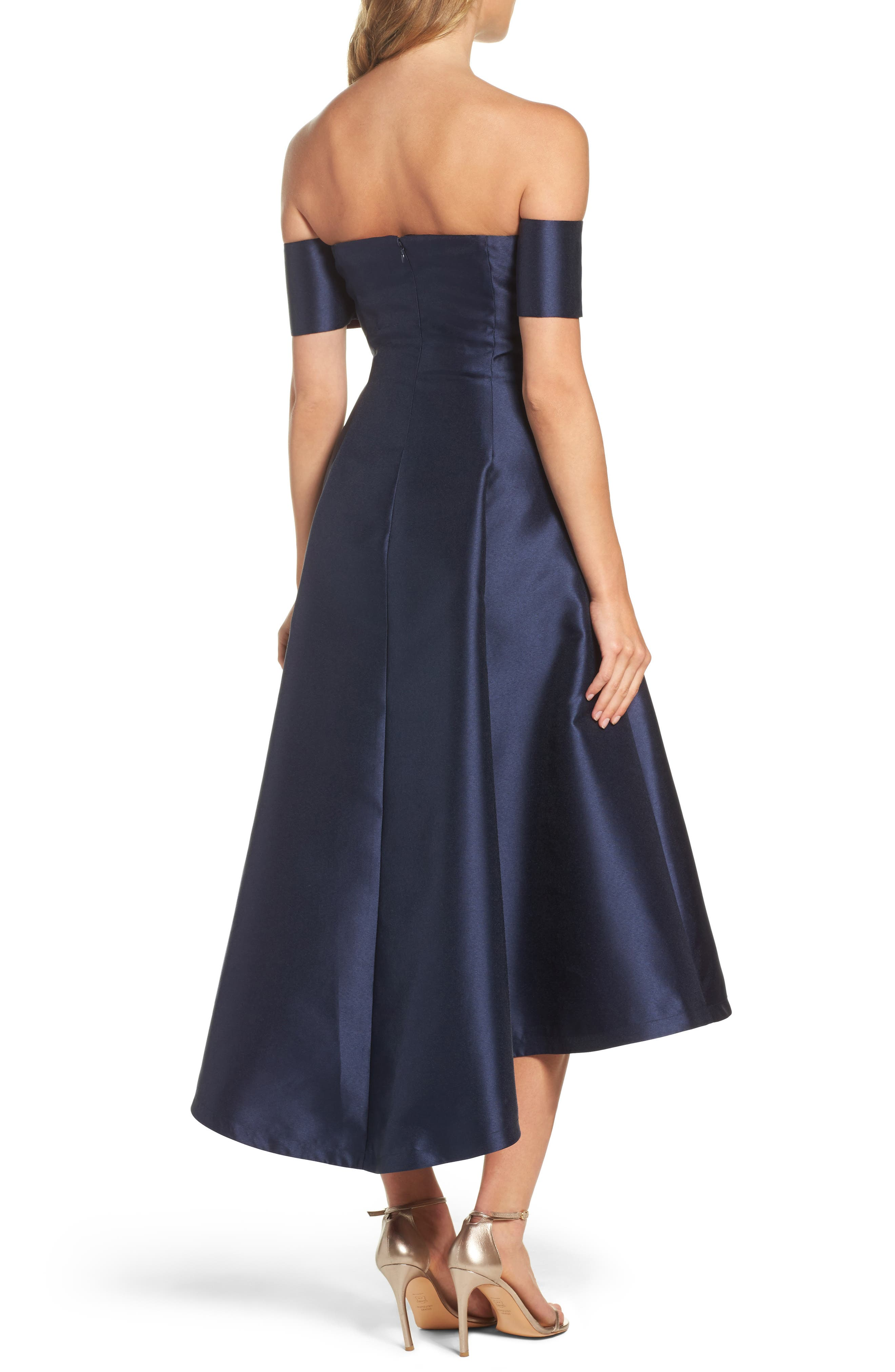 Off the Shoulder High/Low Gown,                             Alternate thumbnail 2, color,                             410