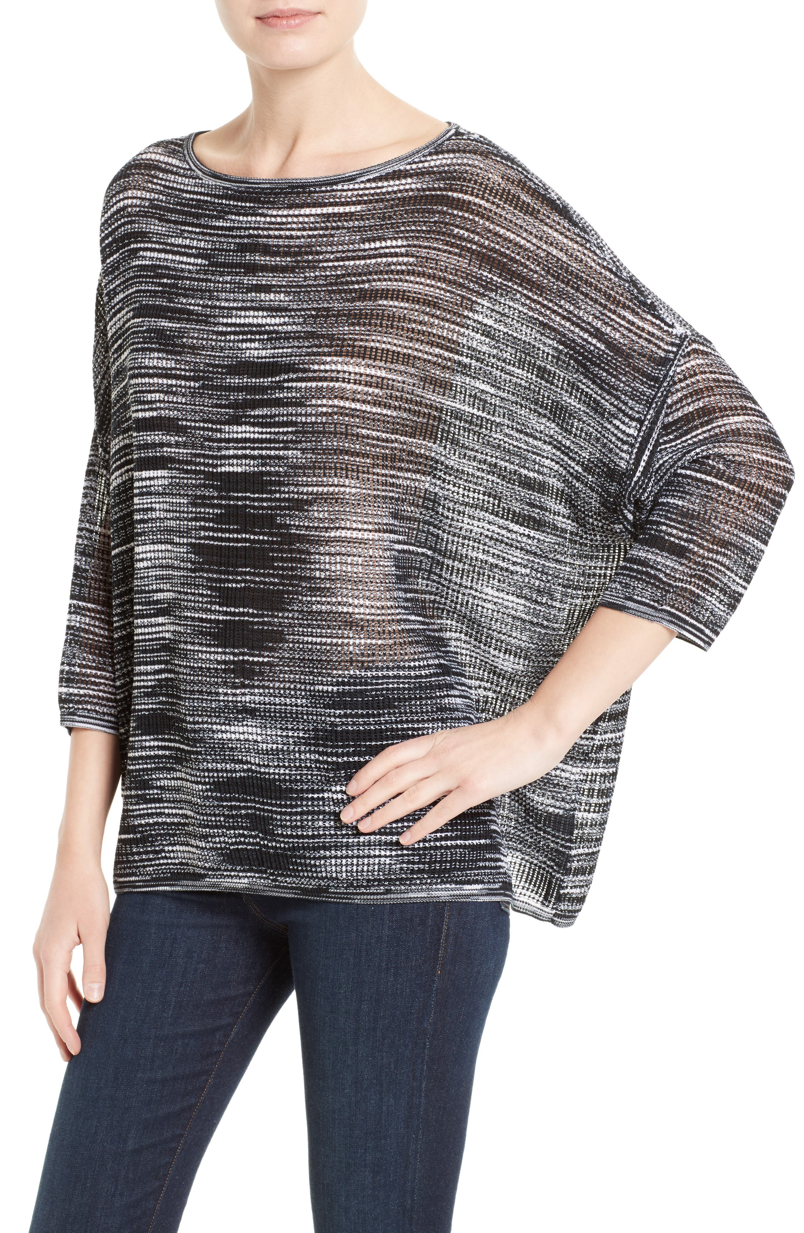 Space Dyed Ripple Top,                             Alternate thumbnail 4, color,                             001