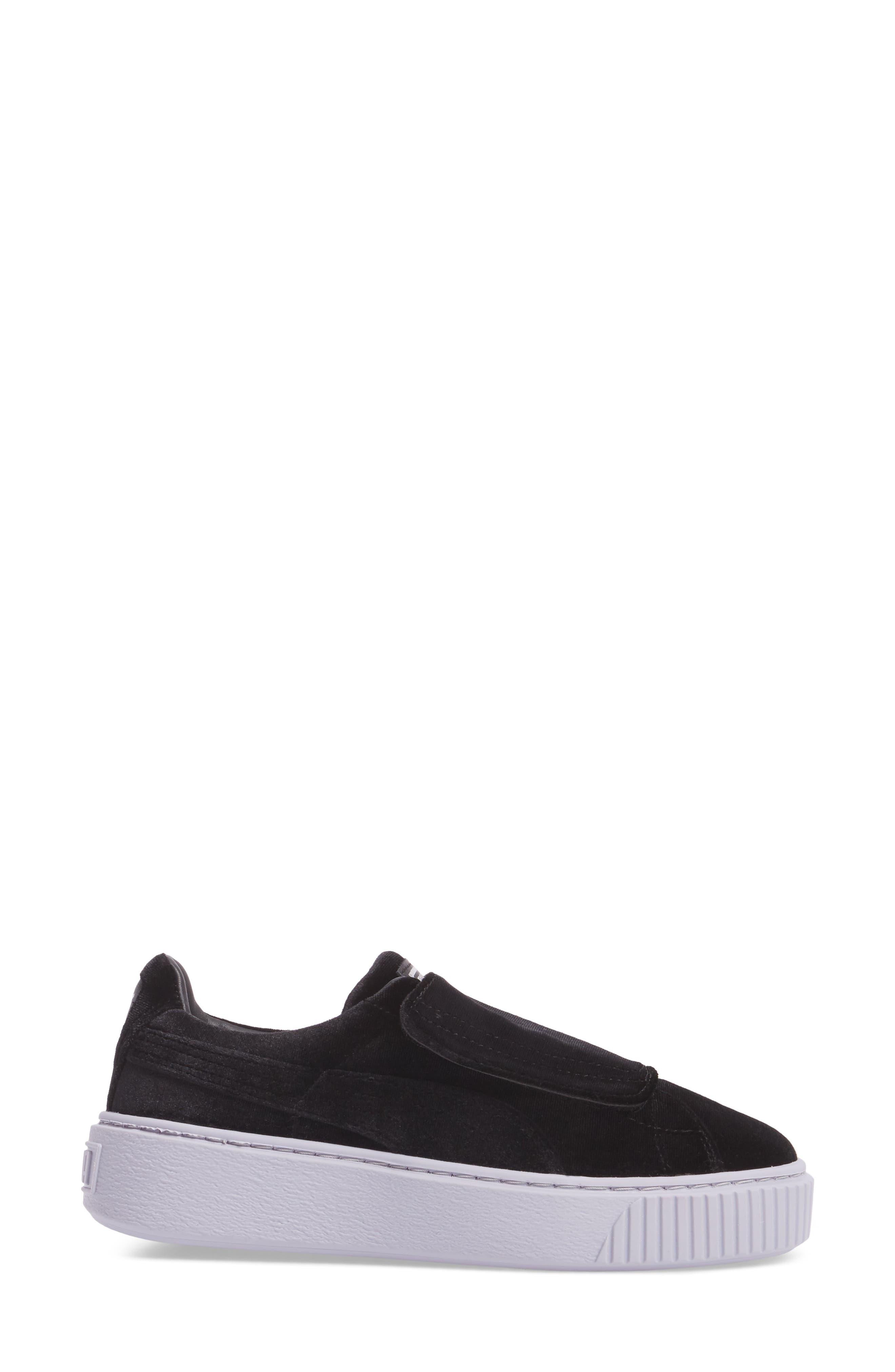 Basket Platform Sneaker,                             Alternate thumbnail 3, color,                             002