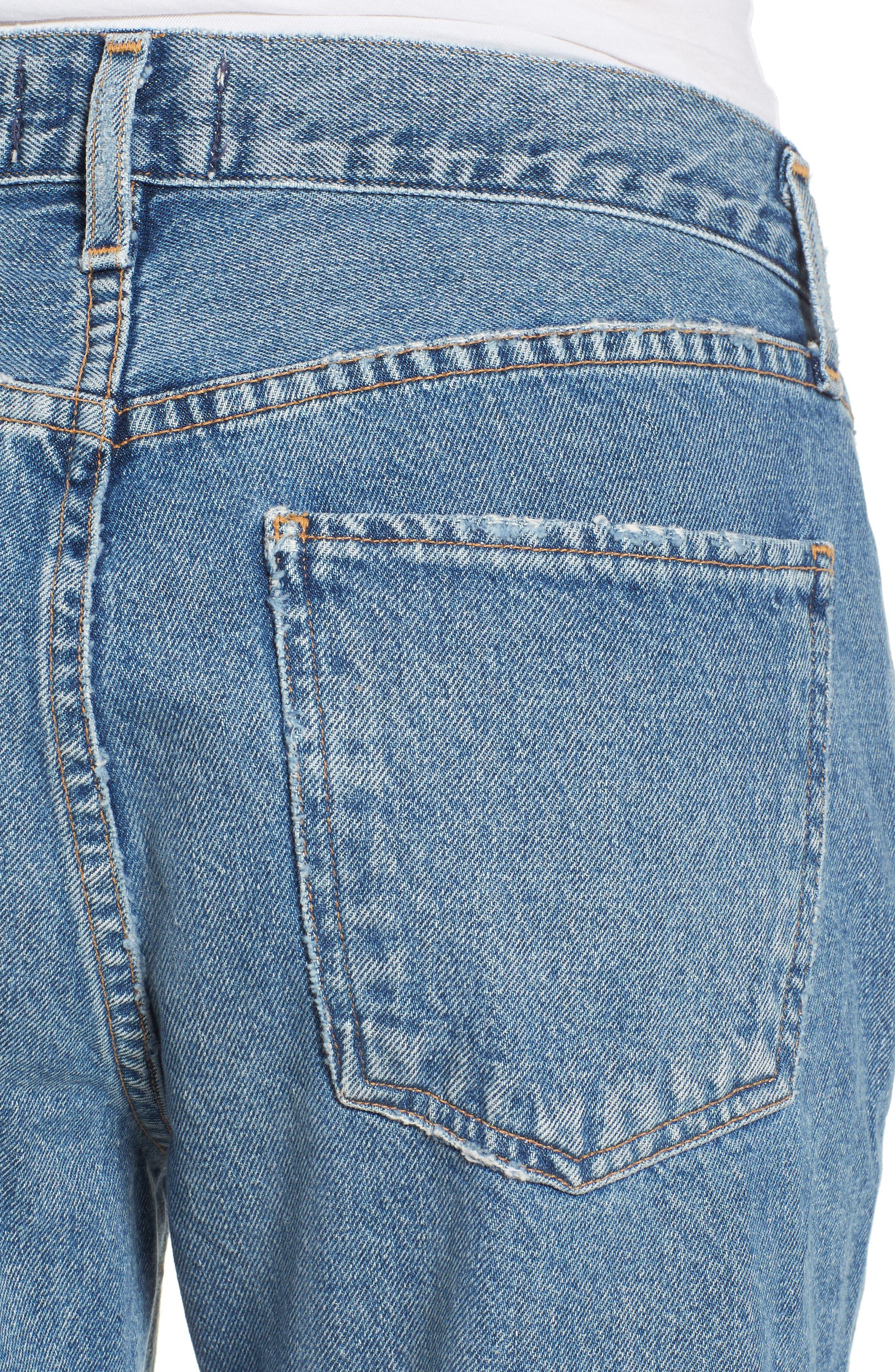 Cigarette High Waist Jeans,                             Alternate thumbnail 4, color,                             PASSENGER