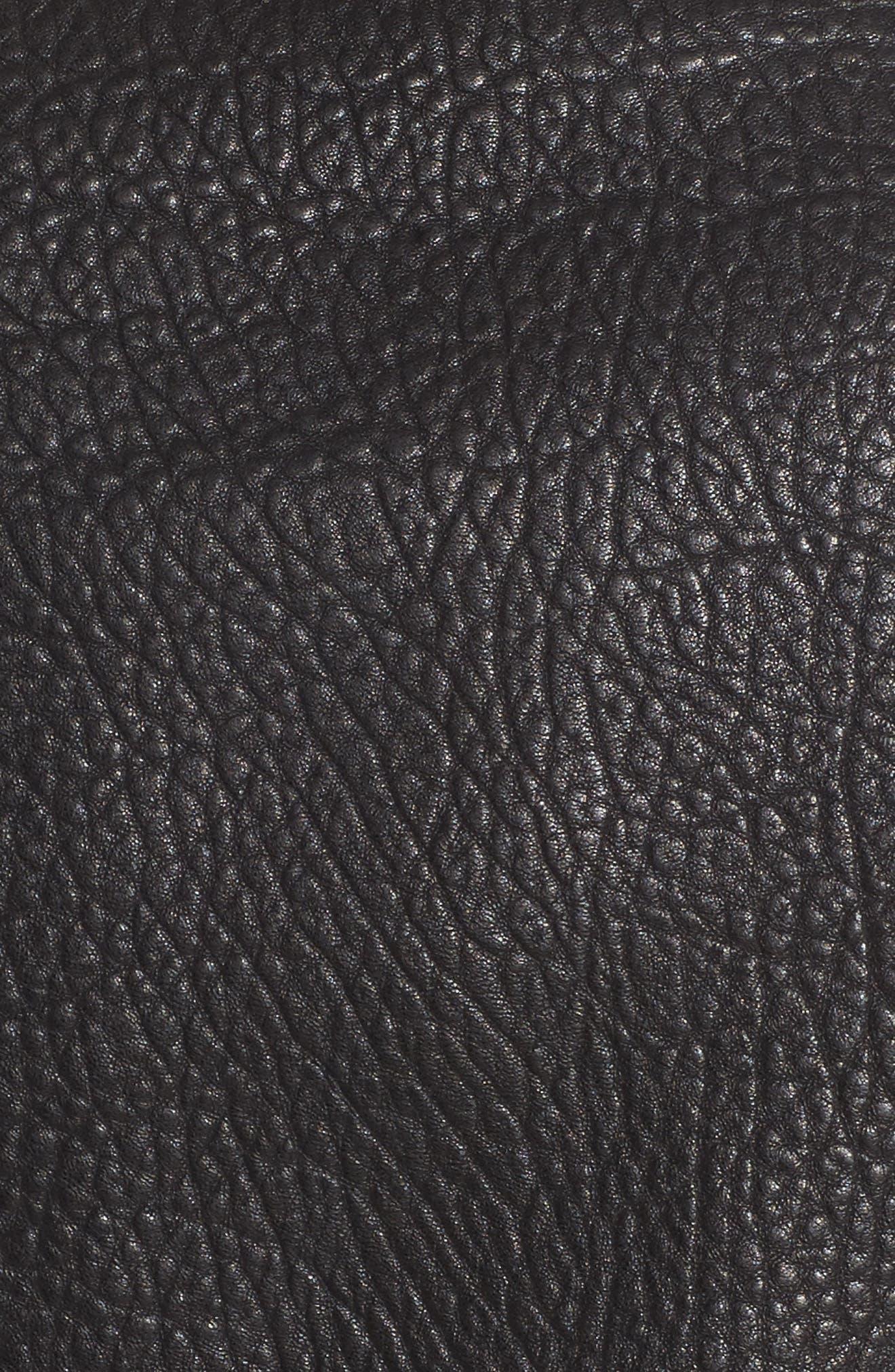 Wolf Leather Moto Jacket,                             Alternate thumbnail 6, color,                             001