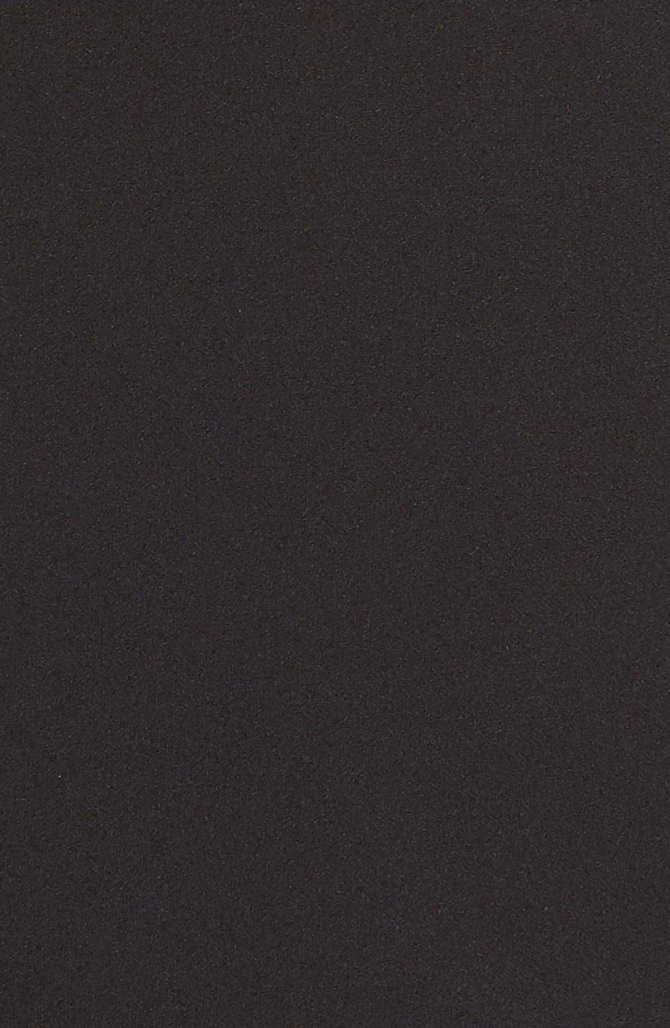 Crystal Yoke Sheath Dress,                             Alternate thumbnail 5, color,                             BLACK