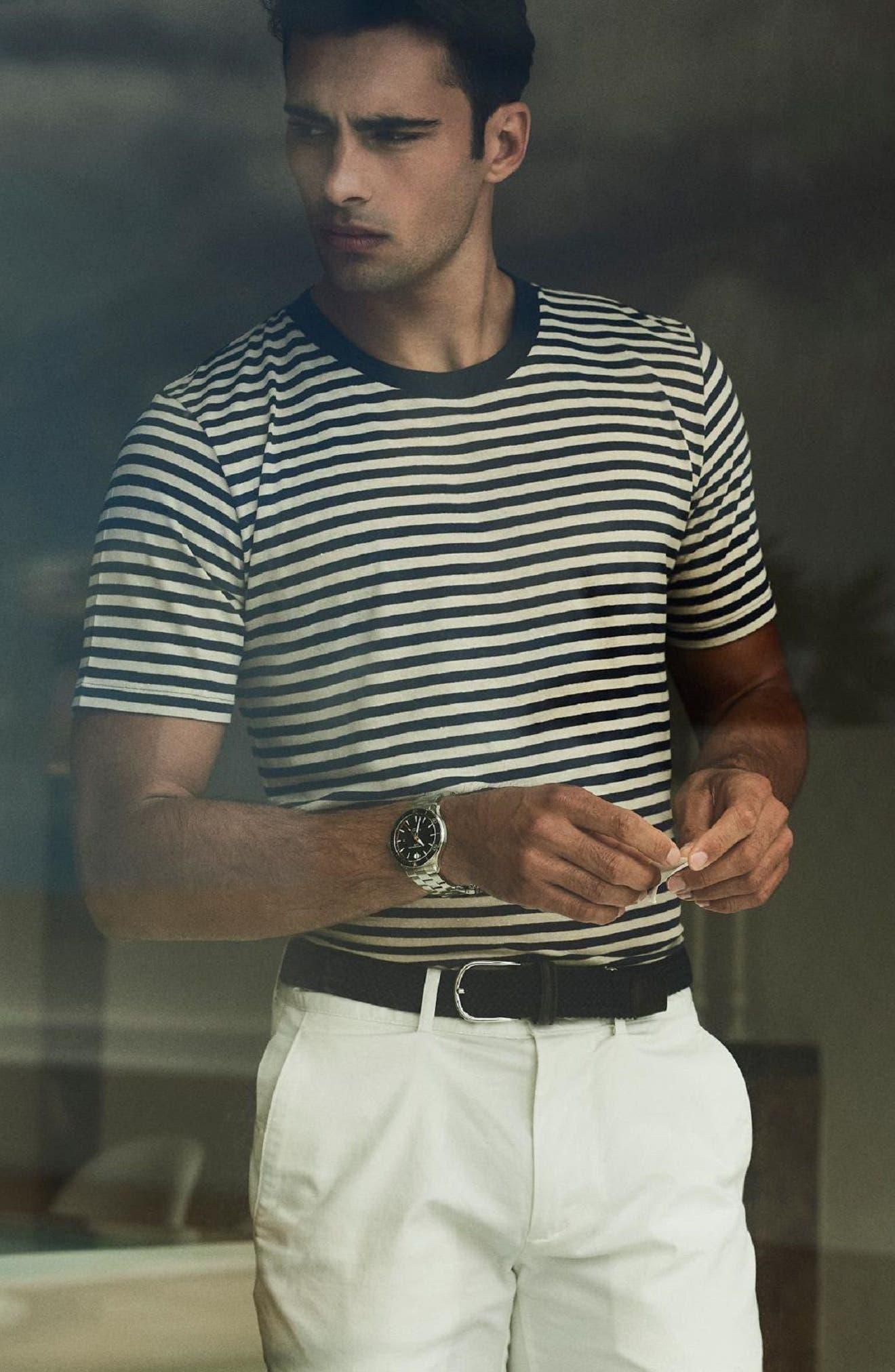 Clifton Automatic Bracelet Watch, 42mm,                             Alternate thumbnail 4, color,                             BLACK/ SILVER