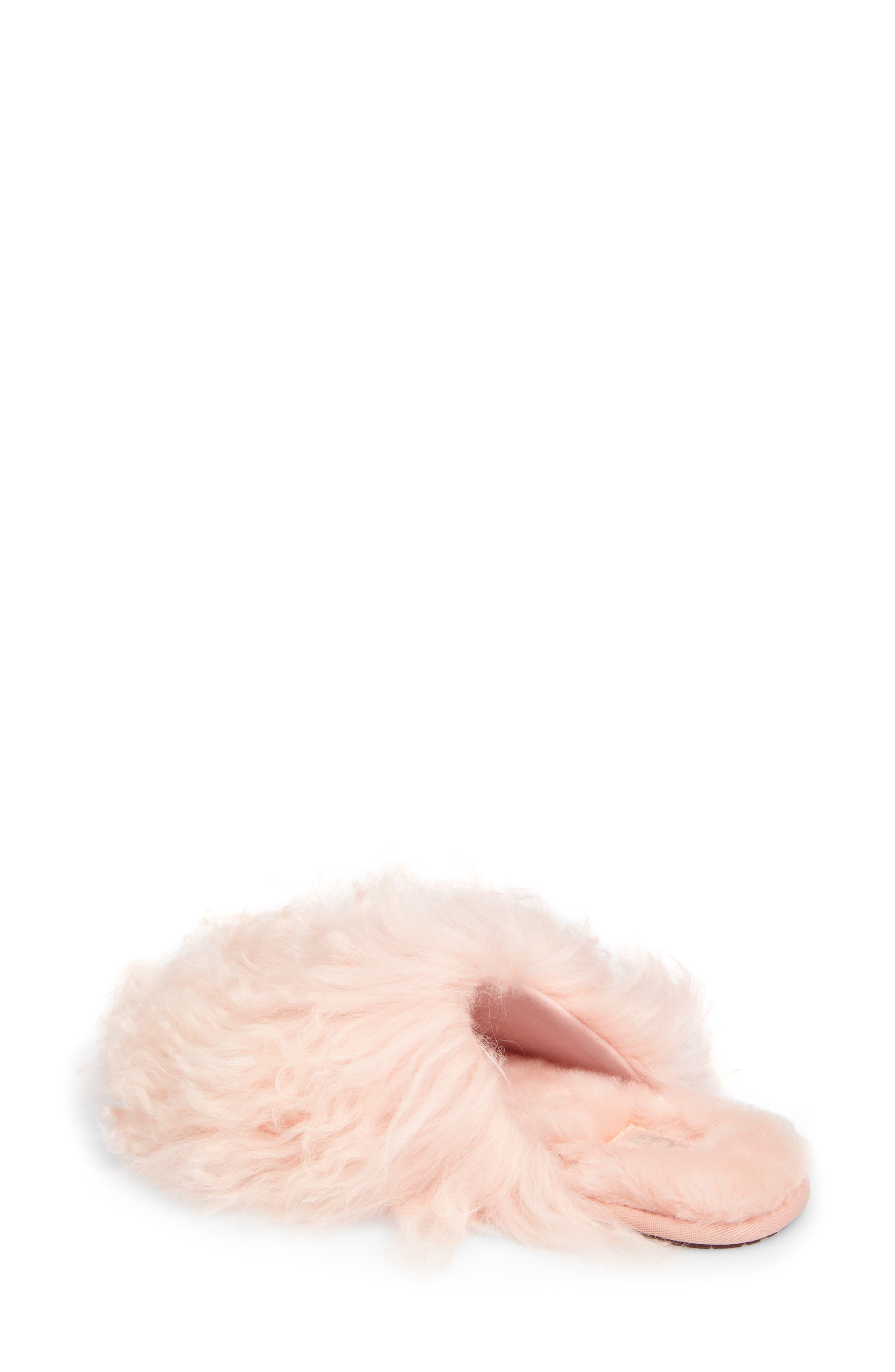 Fluff Momma Genuine Shearling Slipper,                             Alternate thumbnail 6, color,
