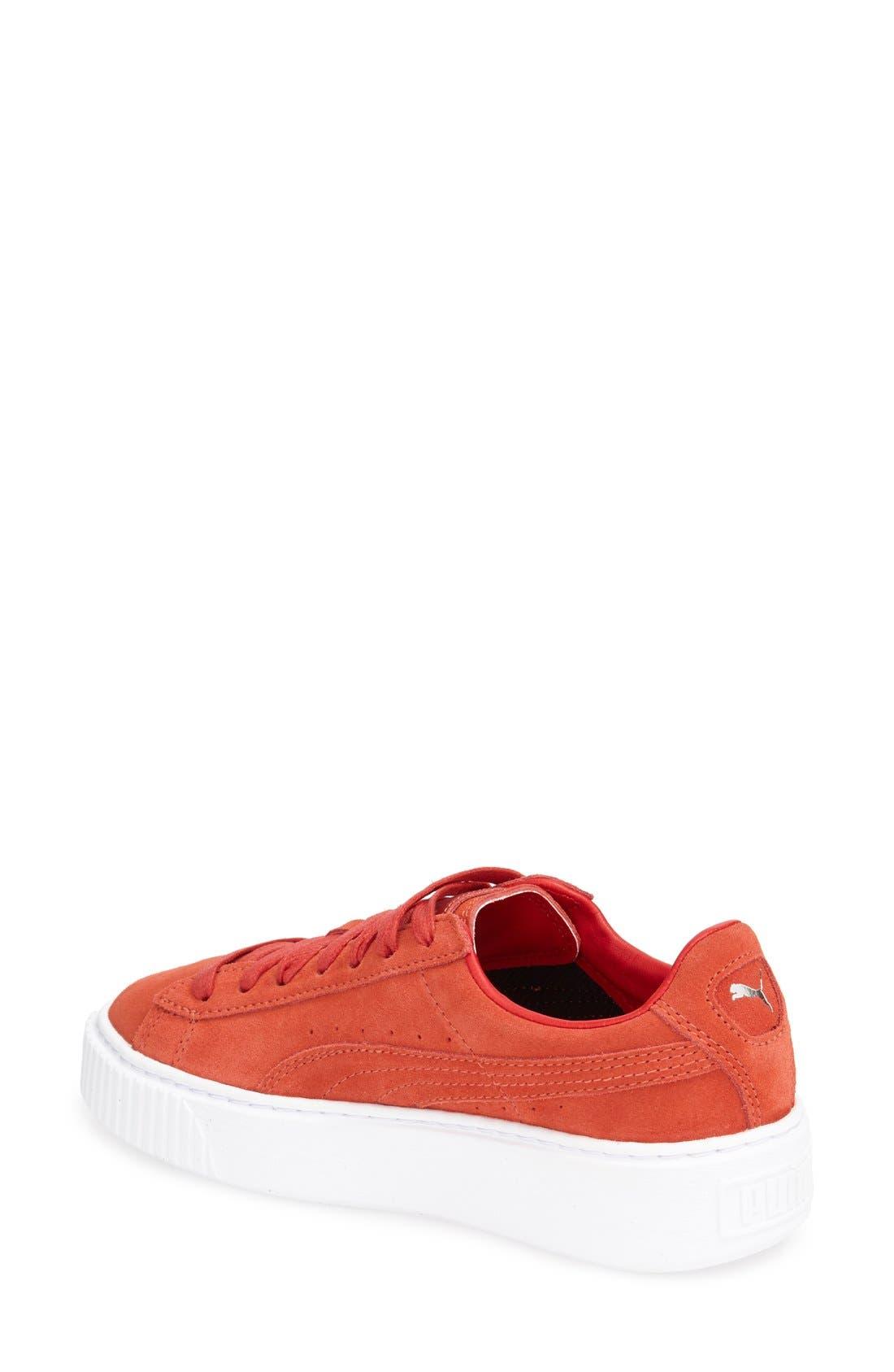 Suede Platform Sneaker,                             Alternate thumbnail 18, color,