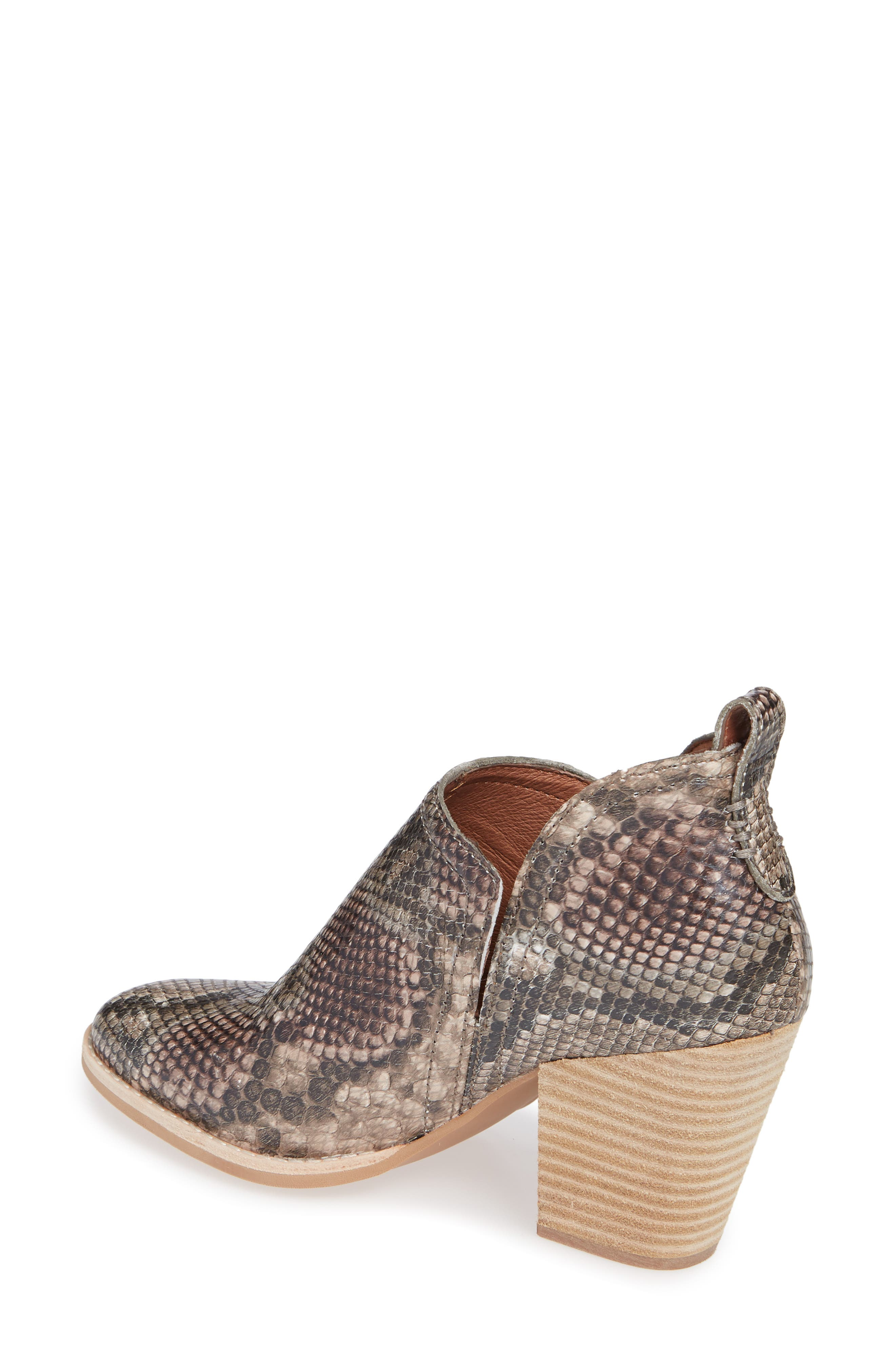 Rosalee Bootie,                             Alternate thumbnail 2, color,                             TAUPE SNAKE PRINT MULTI
