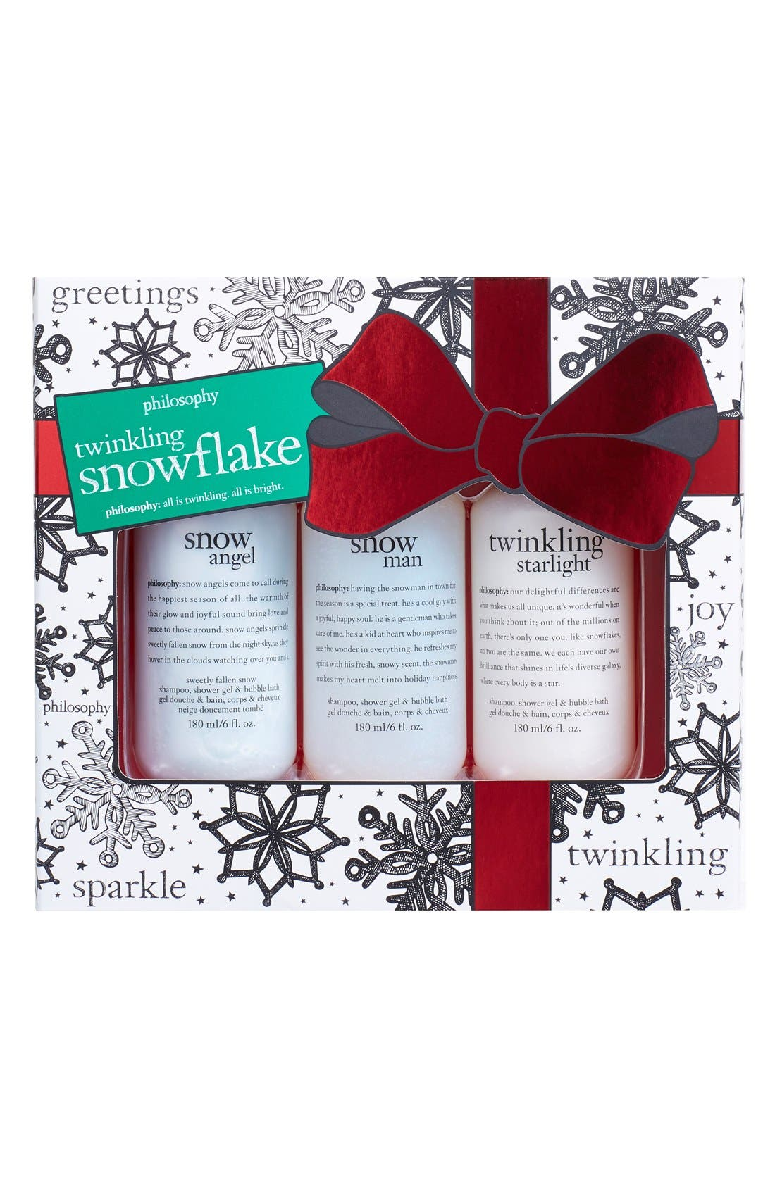 'twinkling snowflakes' set,                             Main thumbnail 1, color,                             000